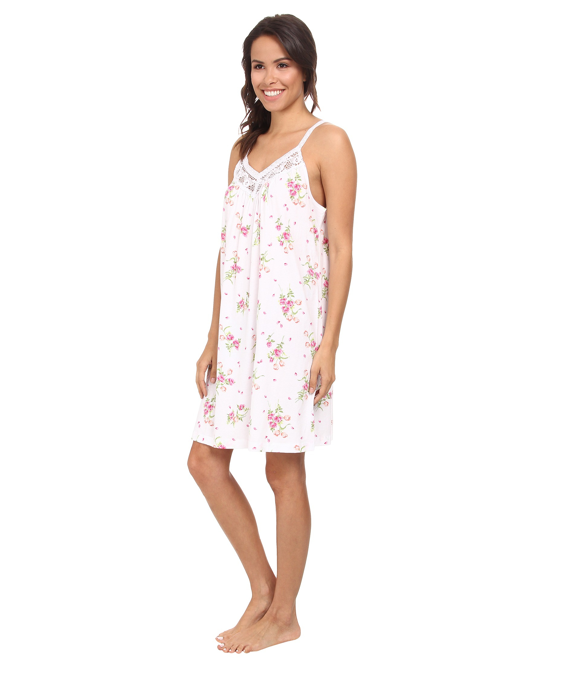 3bf5318220 Lyst - Carole Hochman Floral Print Chemise in White
