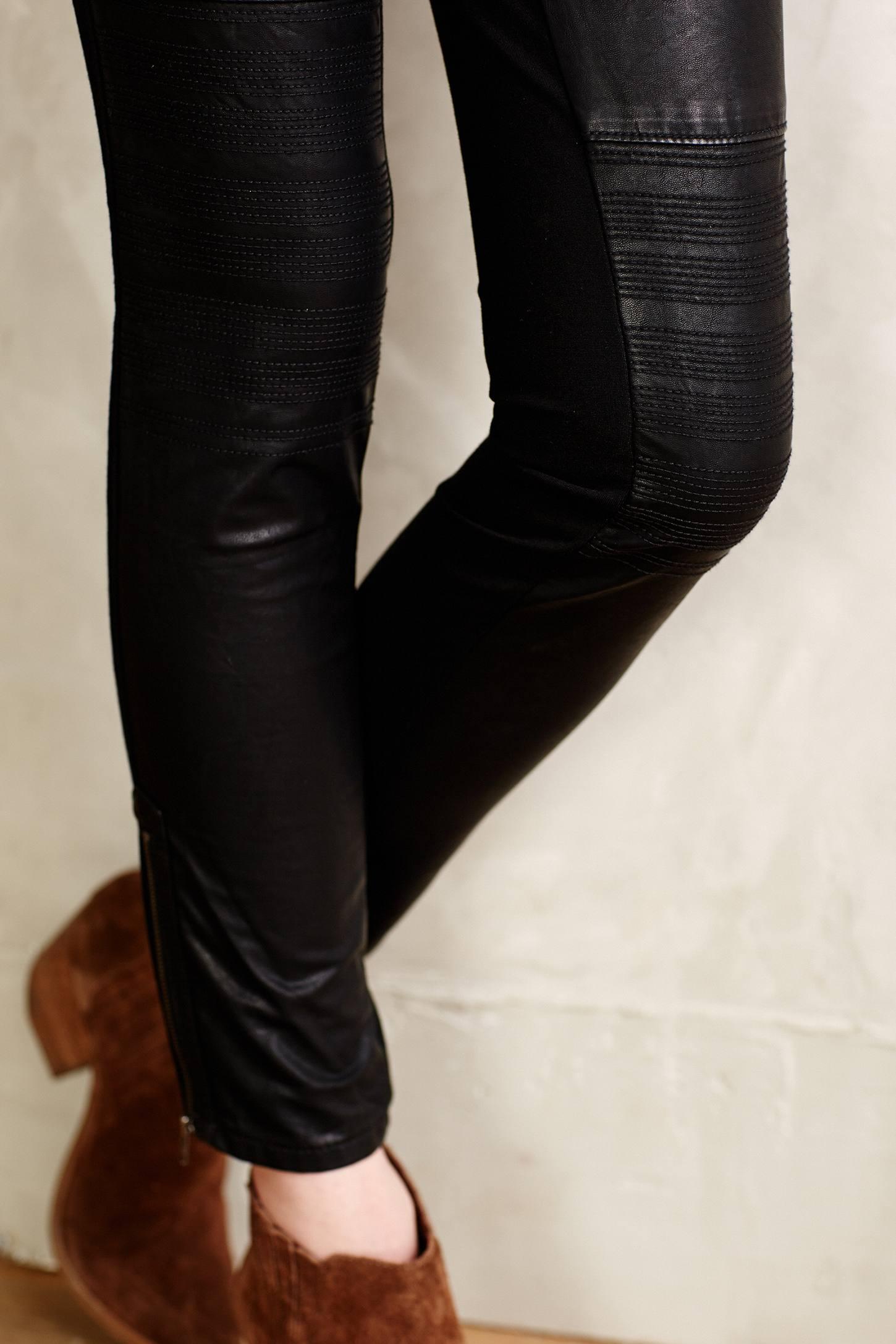 a5665b28dff223 Pilcro Vegan Leather Moto Leggings in Black - Lyst