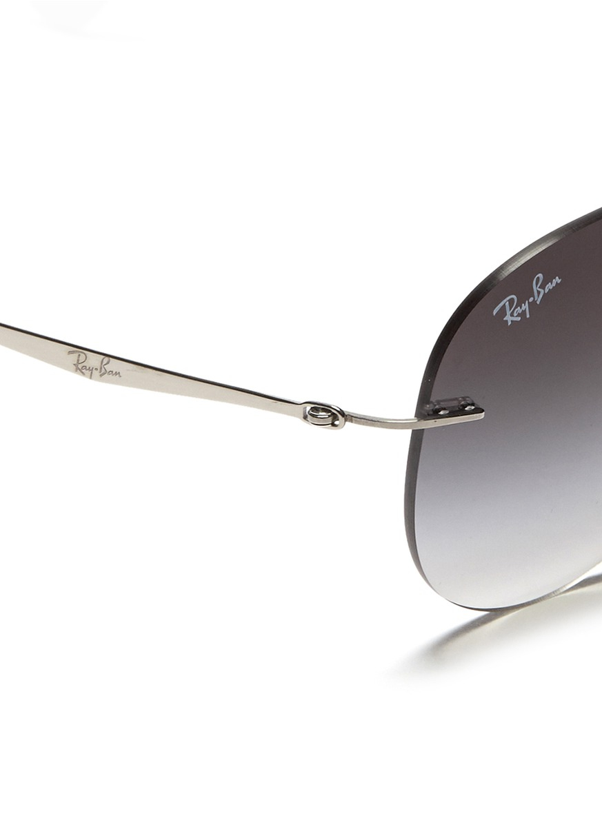 usa ray ban rimless titanium eyeglass frames 53446 b52d5