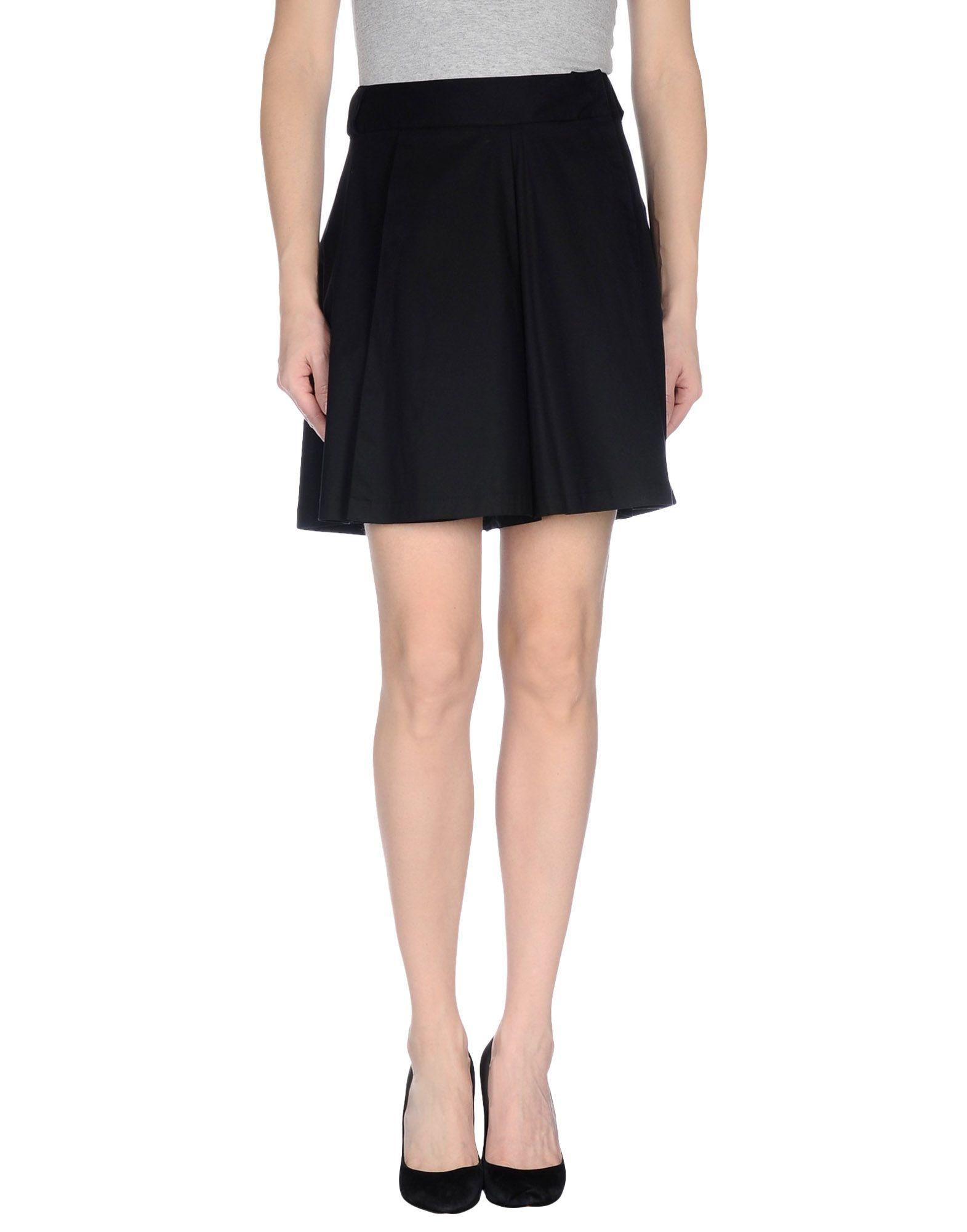 metradamo mini skirt in black save 81 lyst
