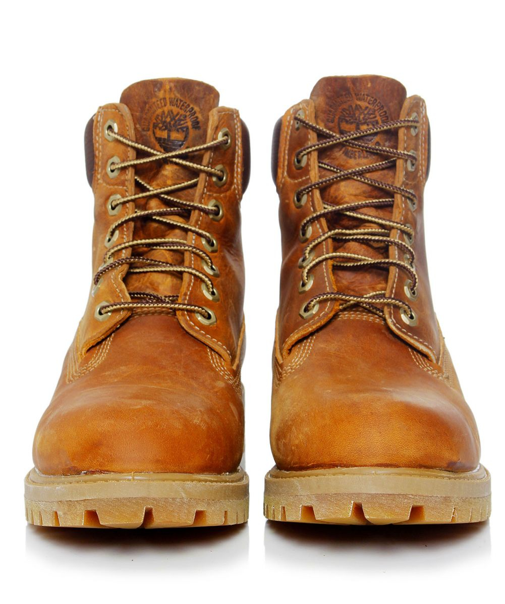 Timberland Heritage 6 Inch Premium Waterproof Boots In Tan