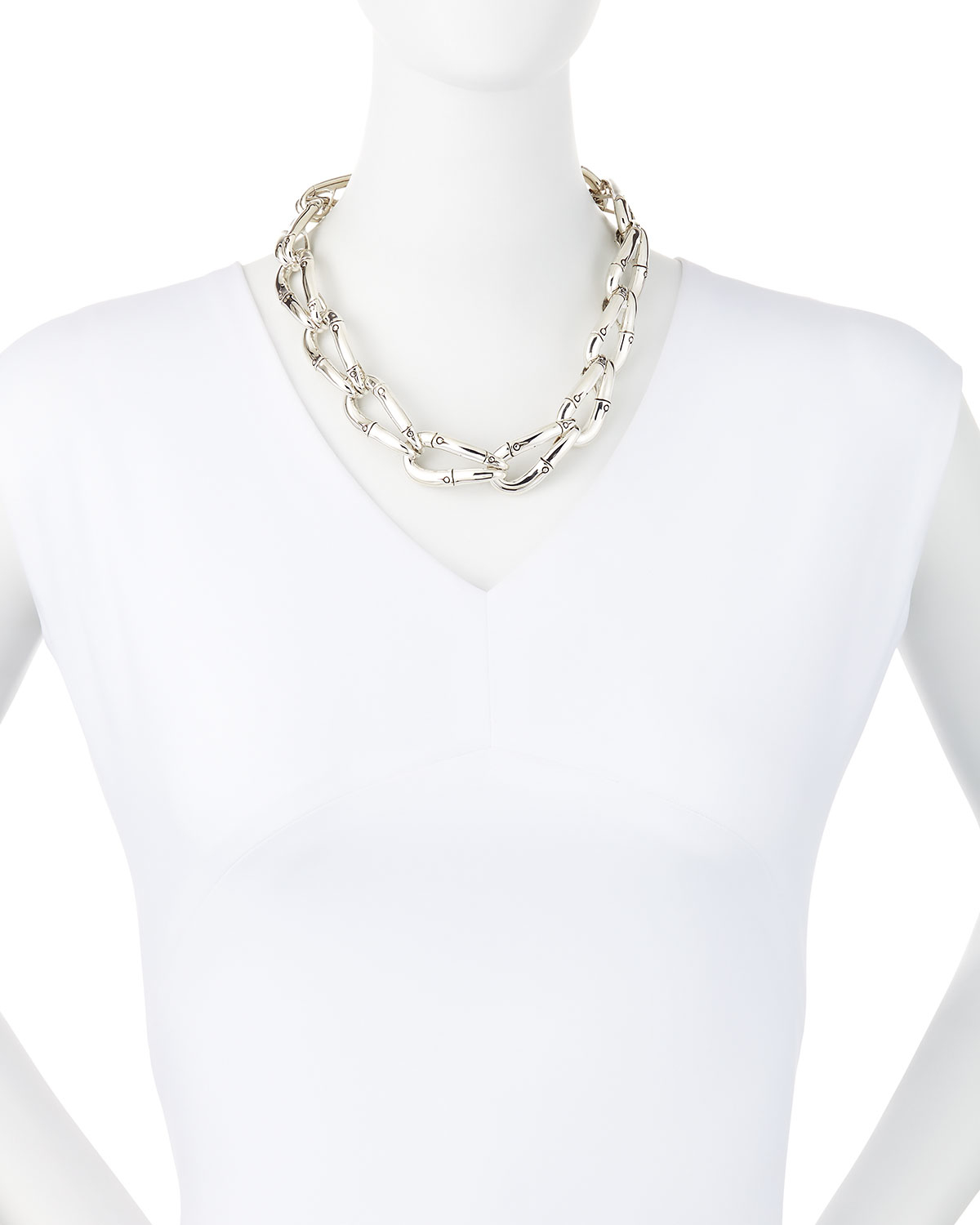 John Hardy Graduated Link Necklace Y1sTUE