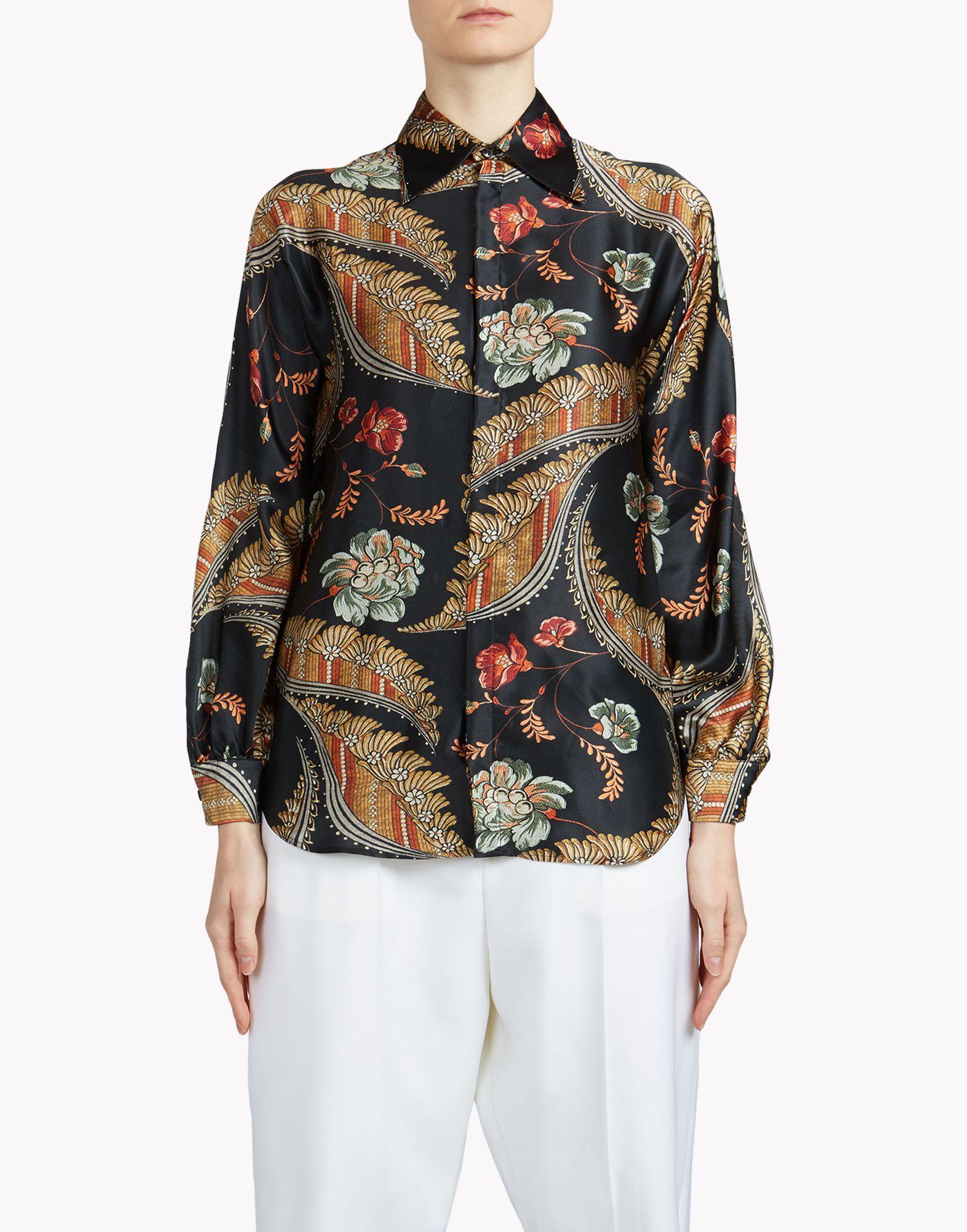 Dsquared Floral Print Shirt Women Silk Cotton 44