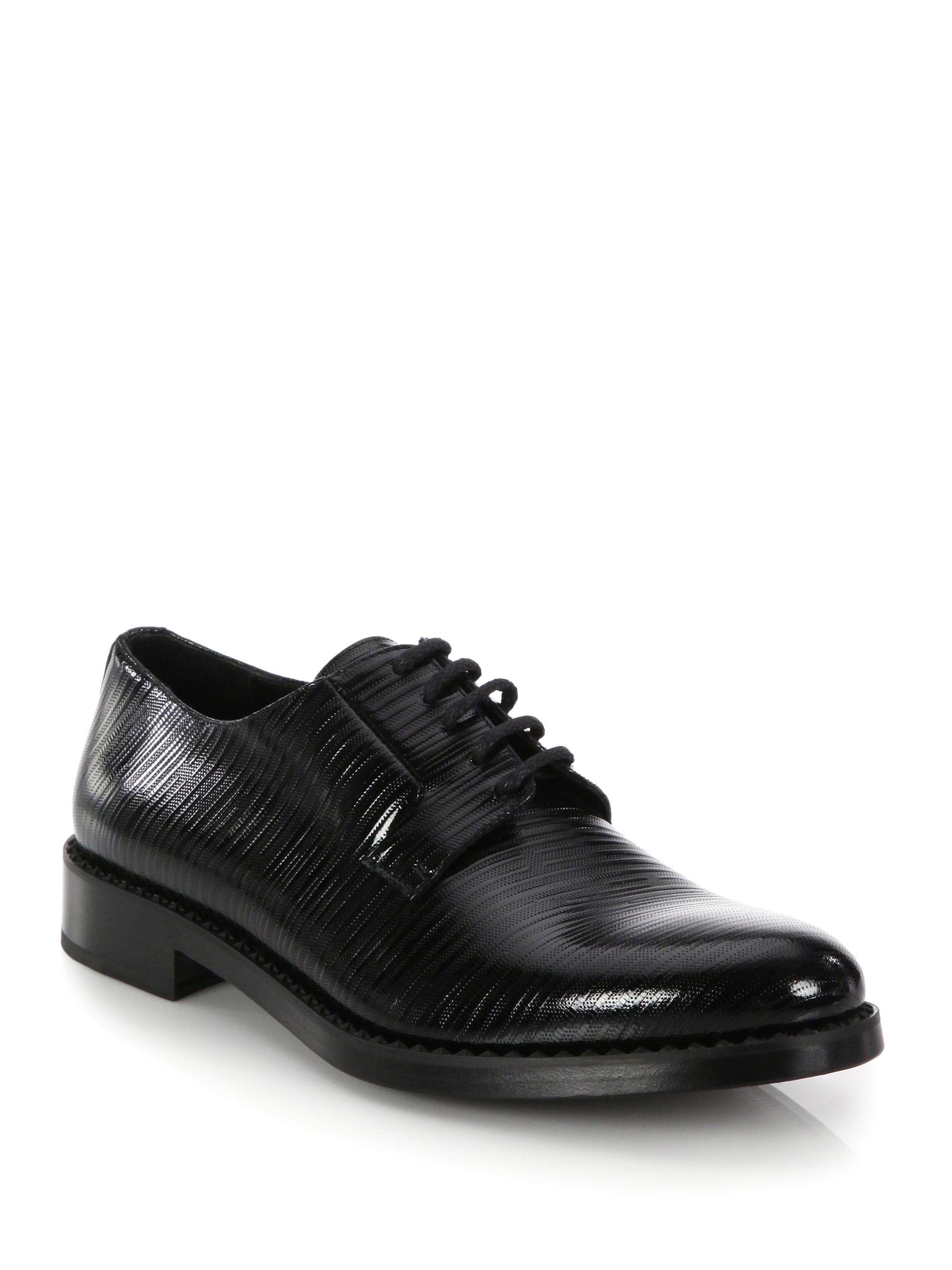 jimmy choo etched derby shoes in black for lyst