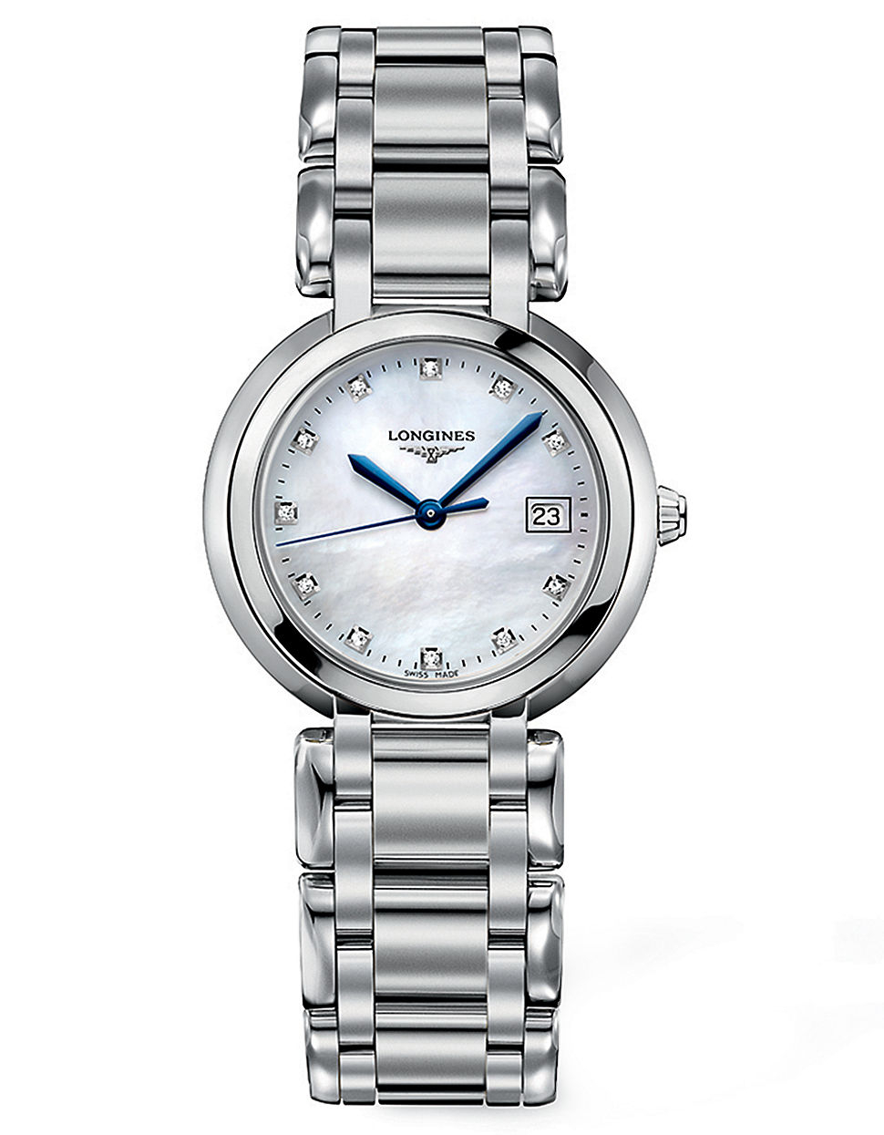 longines primaluna stainless steel and