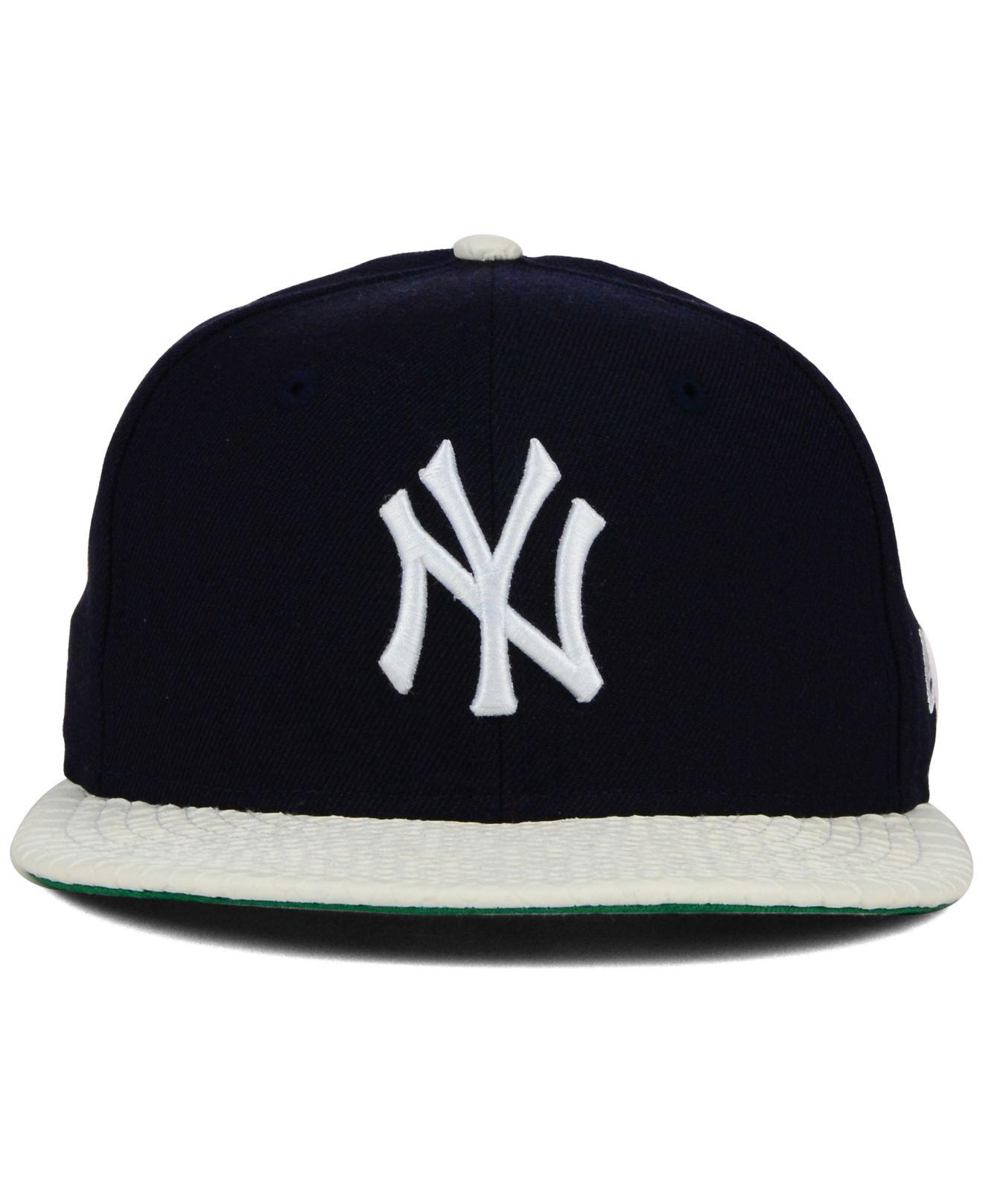 ebf51f7536a119 ... top quality lyst ktz new york yankees mlb team python 59fifty cap in  blue for men ...