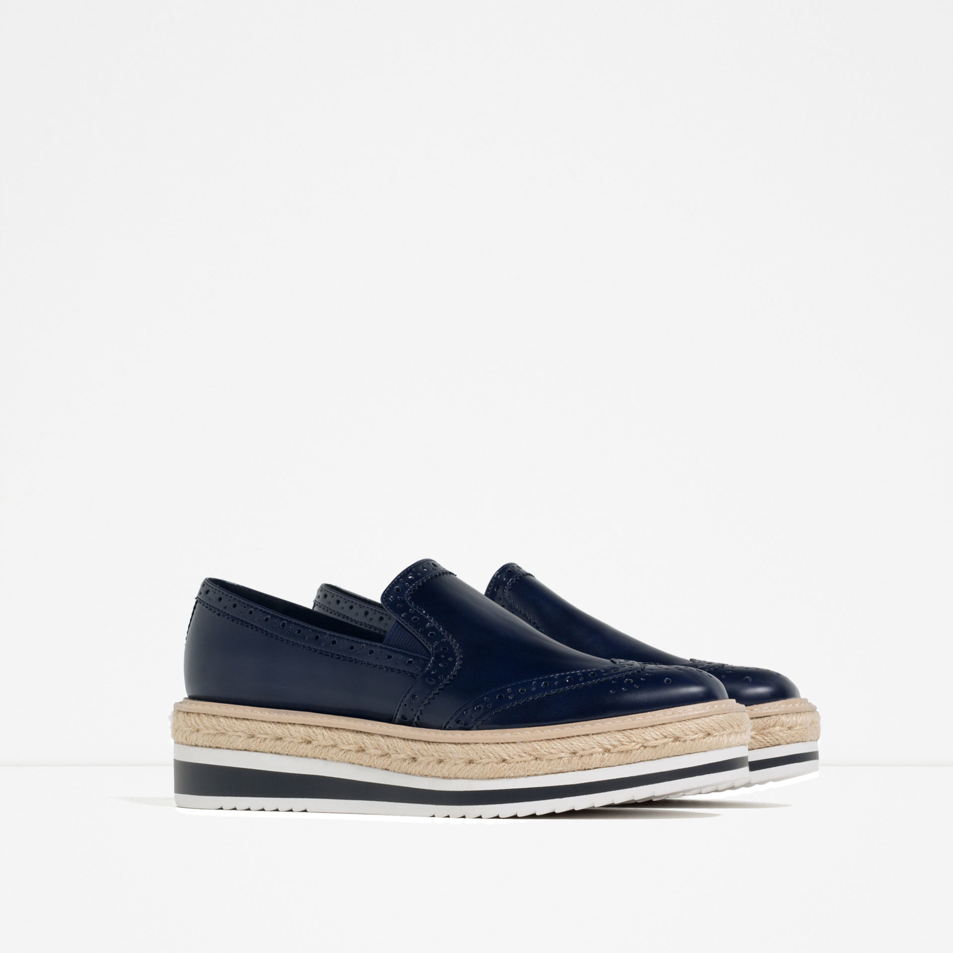 Zara Flat Platform Shoes in Blue for Men | Lyst