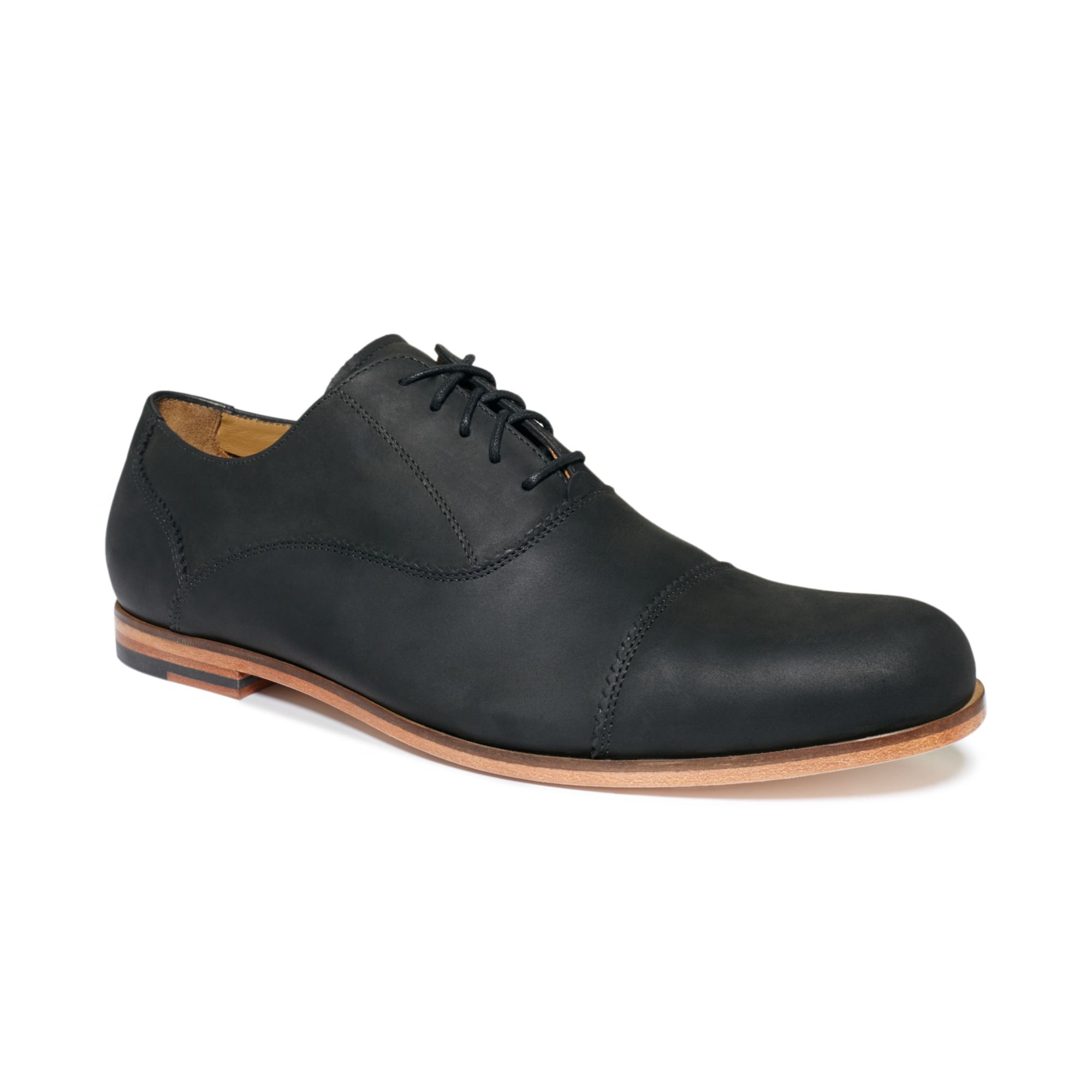cole haan edison captoe shoes in black for lyst