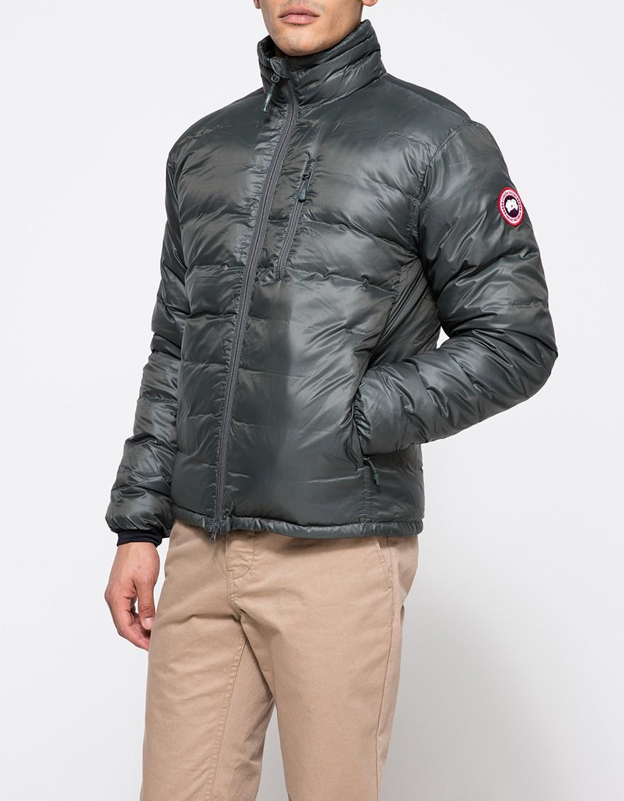 2b11ffbecc86 ... greece lyst canada goose lodge down jacket in slate in gray for men  dea77 1f0b9