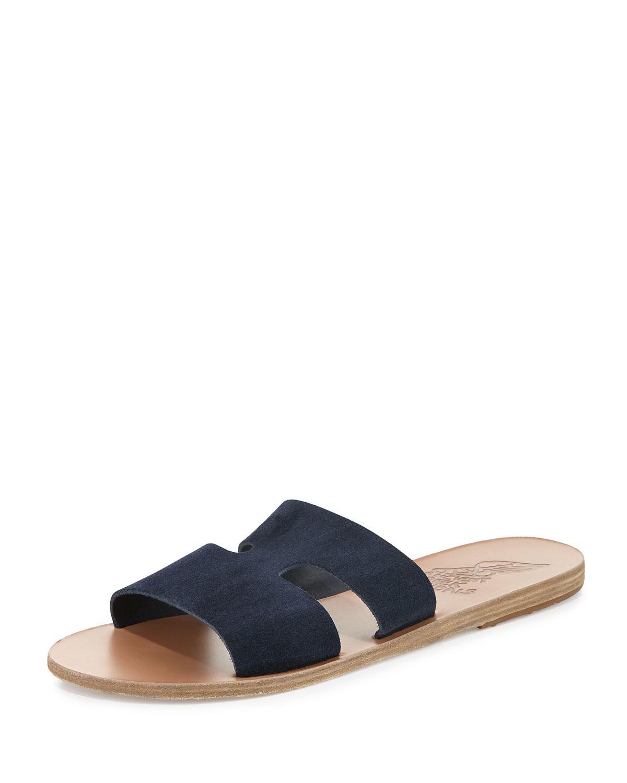 double strap sandals - Blue Ancient Greek Sandals Fy5LPYIM