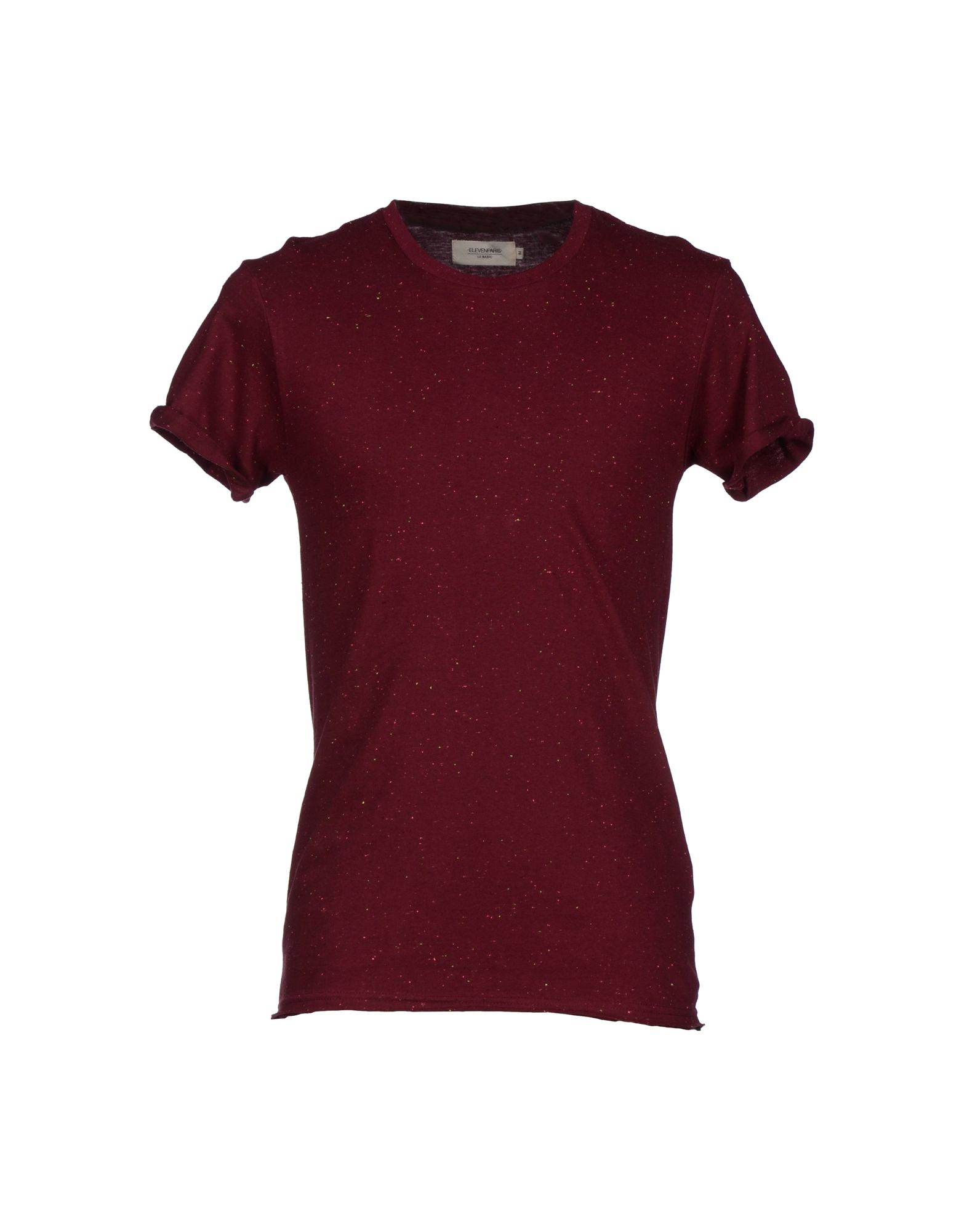 eleven paris t shirt in purple maroon lyst. Black Bedroom Furniture Sets. Home Design Ideas