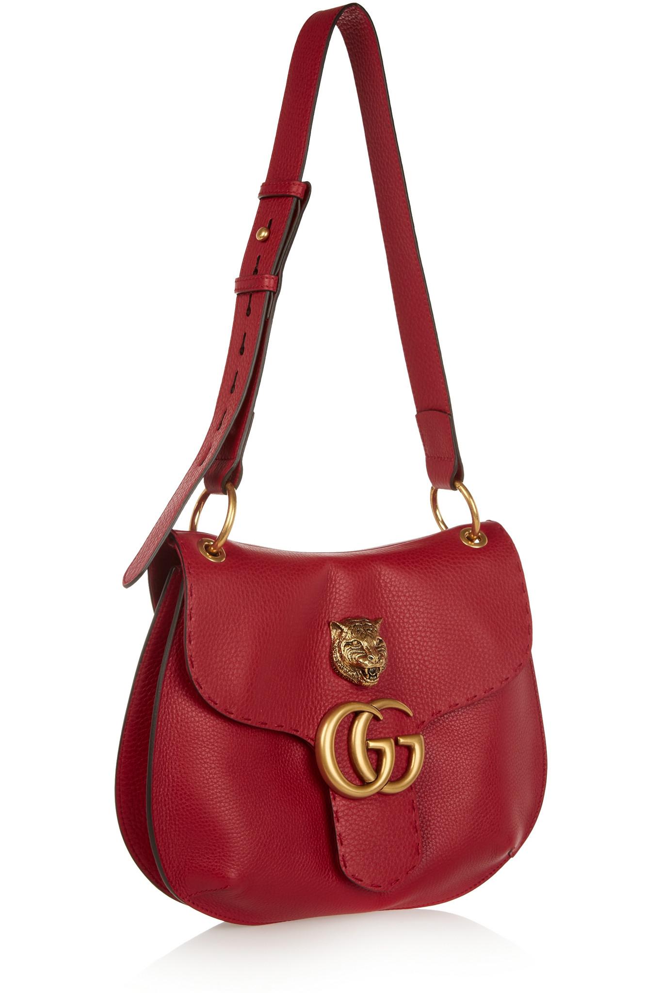 daa812800f5 Gucci Marmont Small Shoulder Bag Red