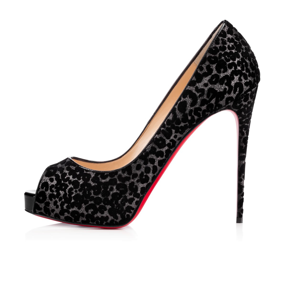 mens christian louboutin loafers - Christian louboutin New Very Prive Glitter Leo Floque/patent in ...