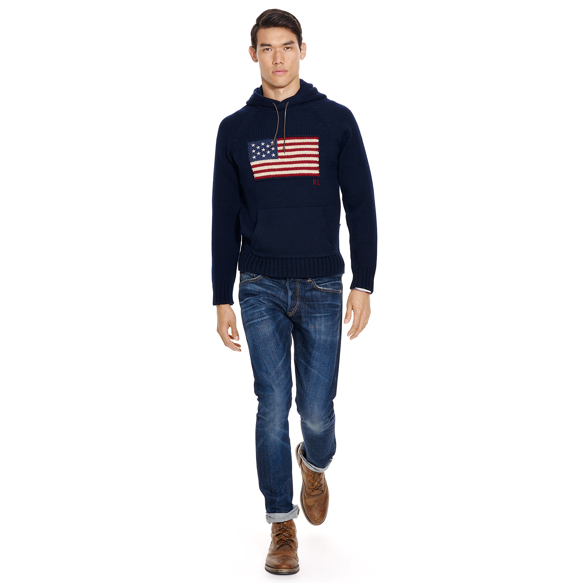 951774d44 germany lyst polo ralph lauren flag wool hooded sweater in blue for men  edc6f 9ff4d