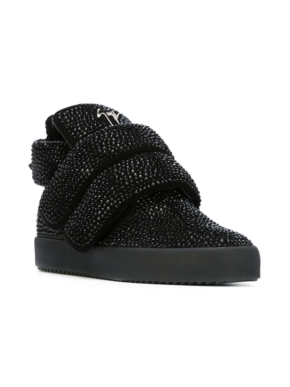 e0c4eab1ce110 Lyst - Giuseppe Zanotti Velcro-Strap Suede High-Top Sneakers in ...