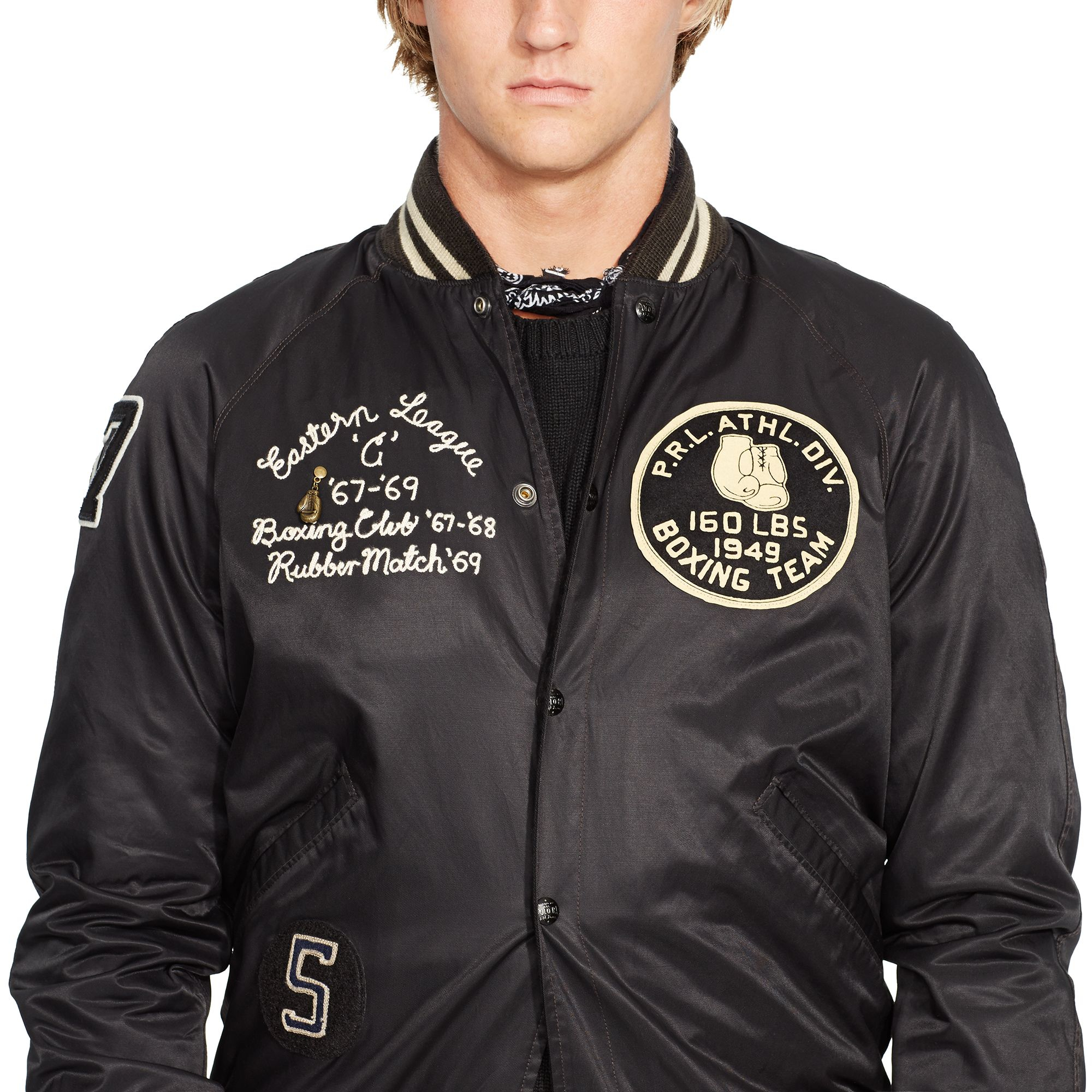 Polo Ralph Lauren Reversible Jacket In Black For Men Lyst