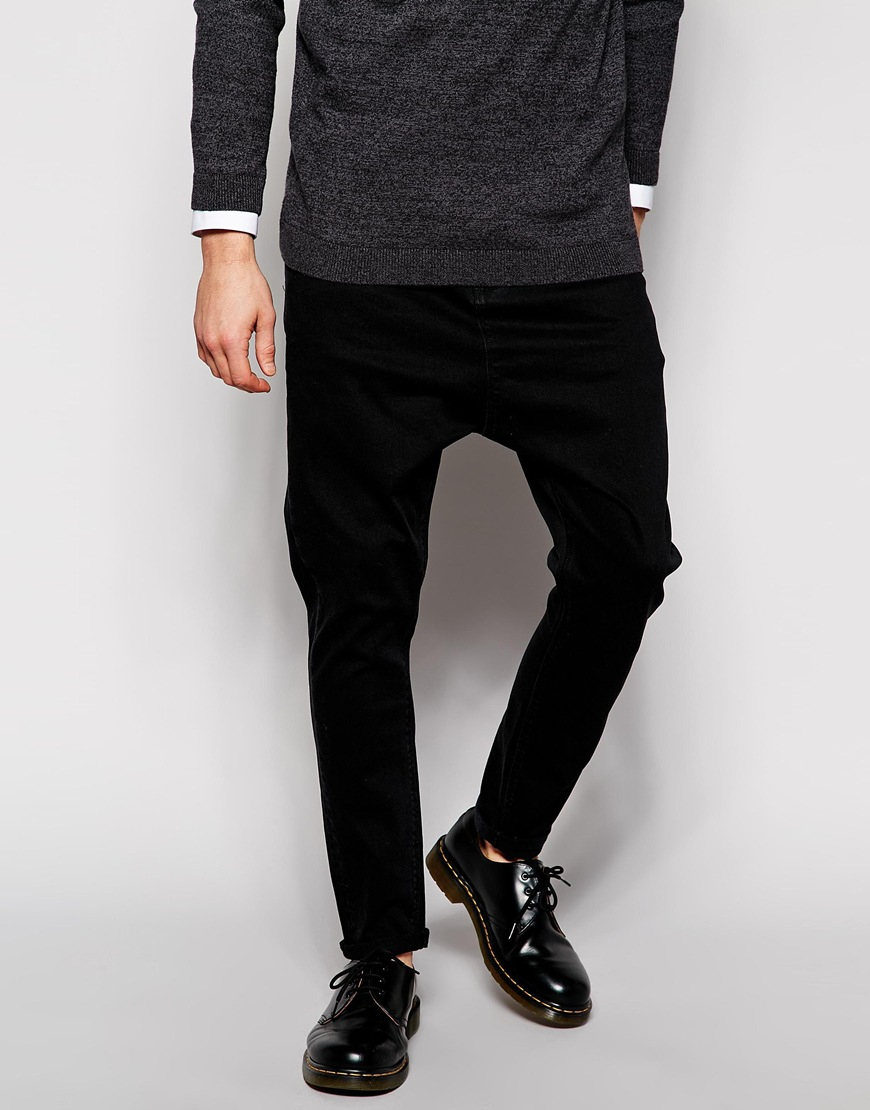 Asos Drop Crotch Jeans - Black in Black for Men | Lyst