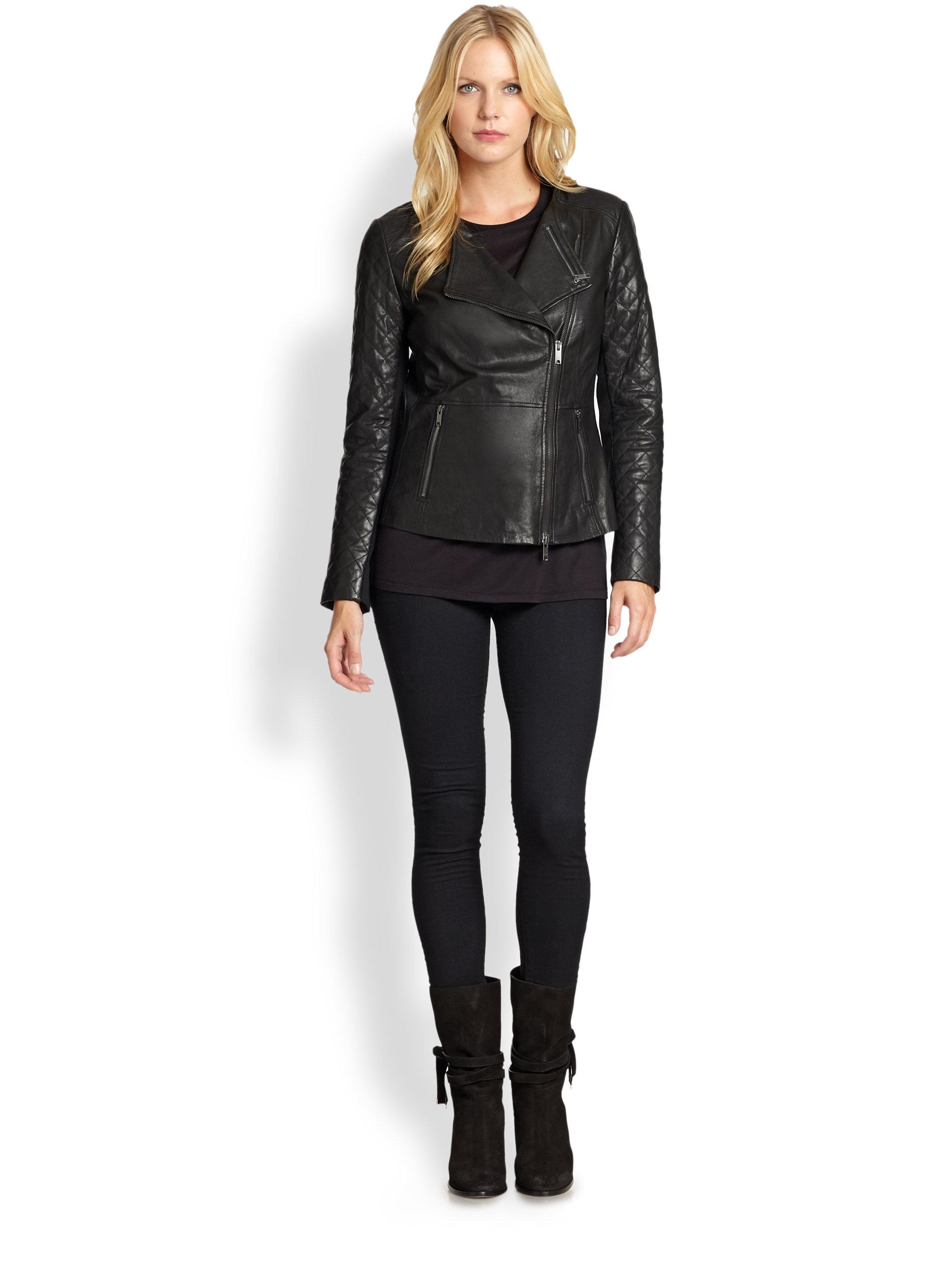 Dkny leather motorcycle jacket