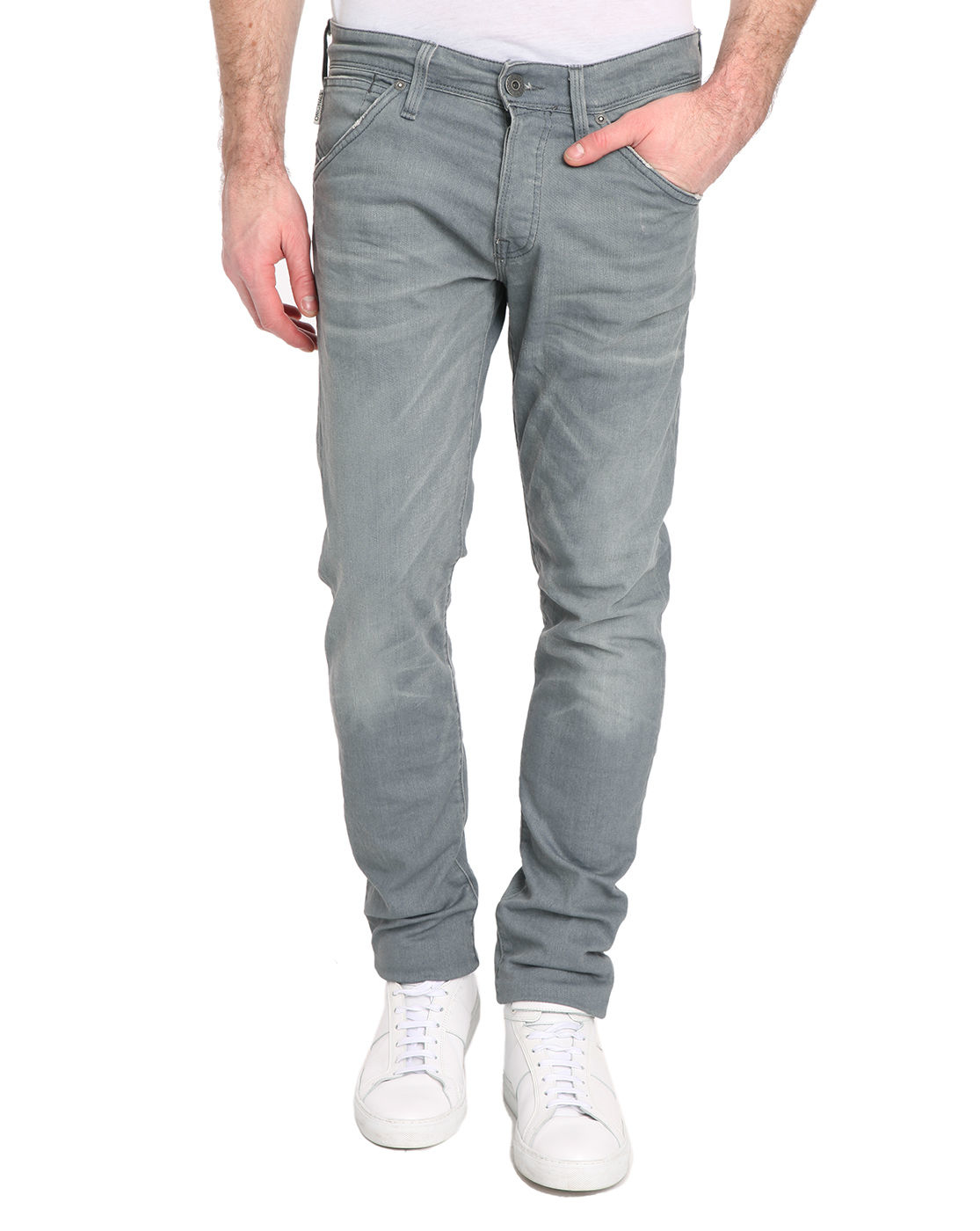 jack jones slim fit grey glenn jeans in gray for men lyst. Black Bedroom Furniture Sets. Home Design Ideas
