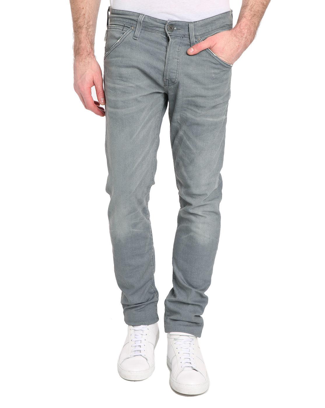 jack jones slim fit grey glenn jeans in gray for men lyst. Black Bedroom Furniture Sets. Home Design Ideas