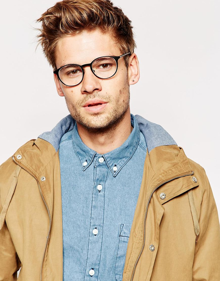Lyst Gucci Round Glasses In Black For Men