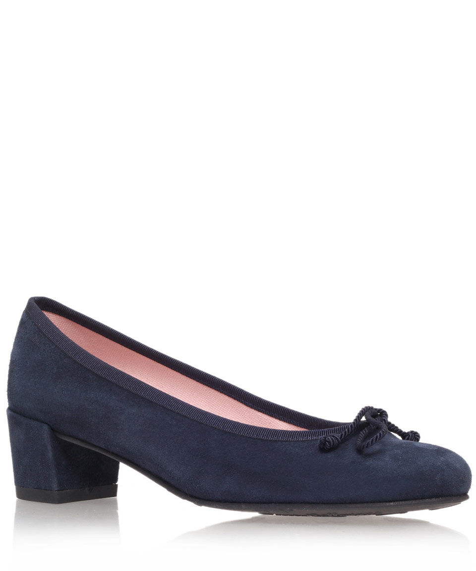 Navy Blue Block Heel Shoes