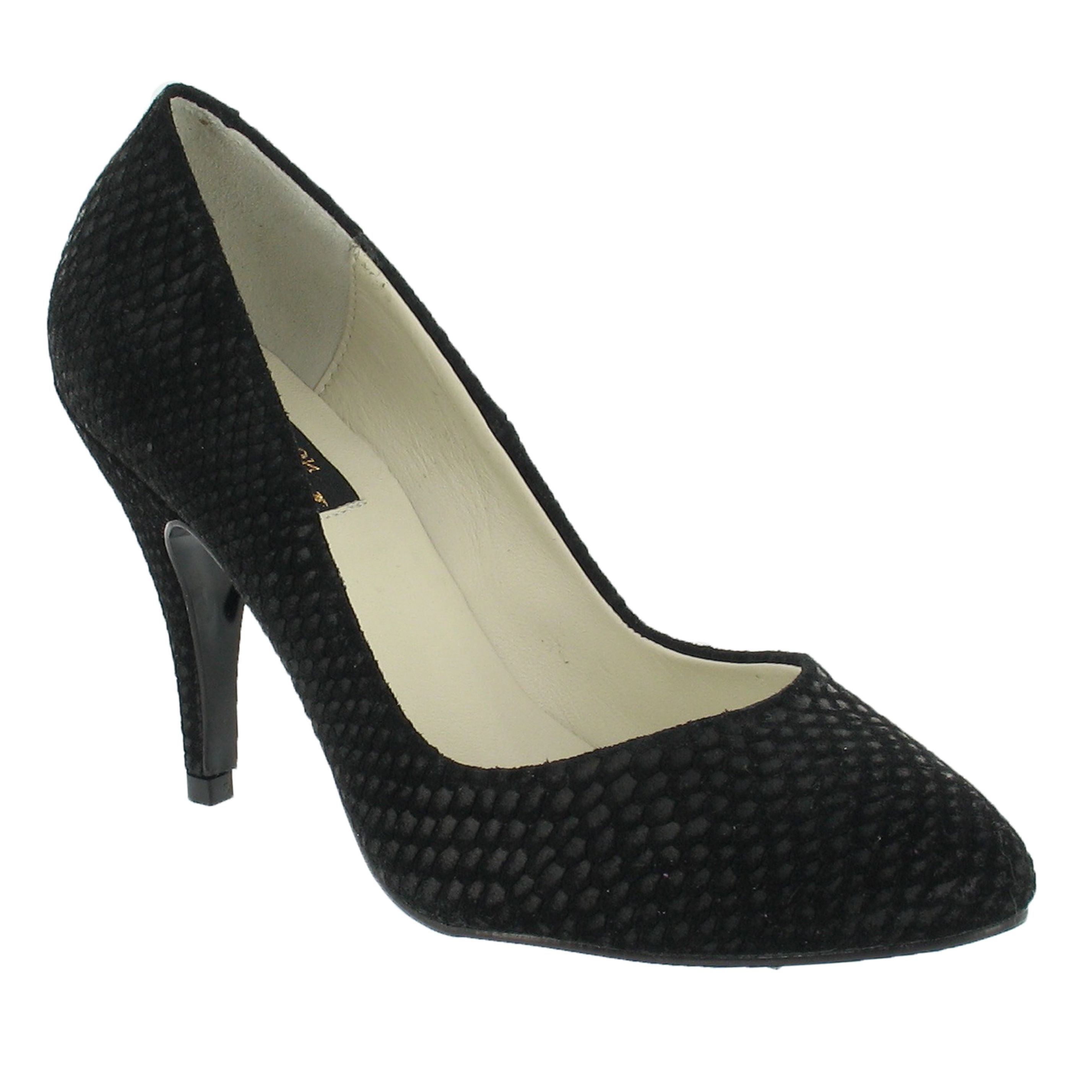 marta jonsson high heeled court shoes in black lyst