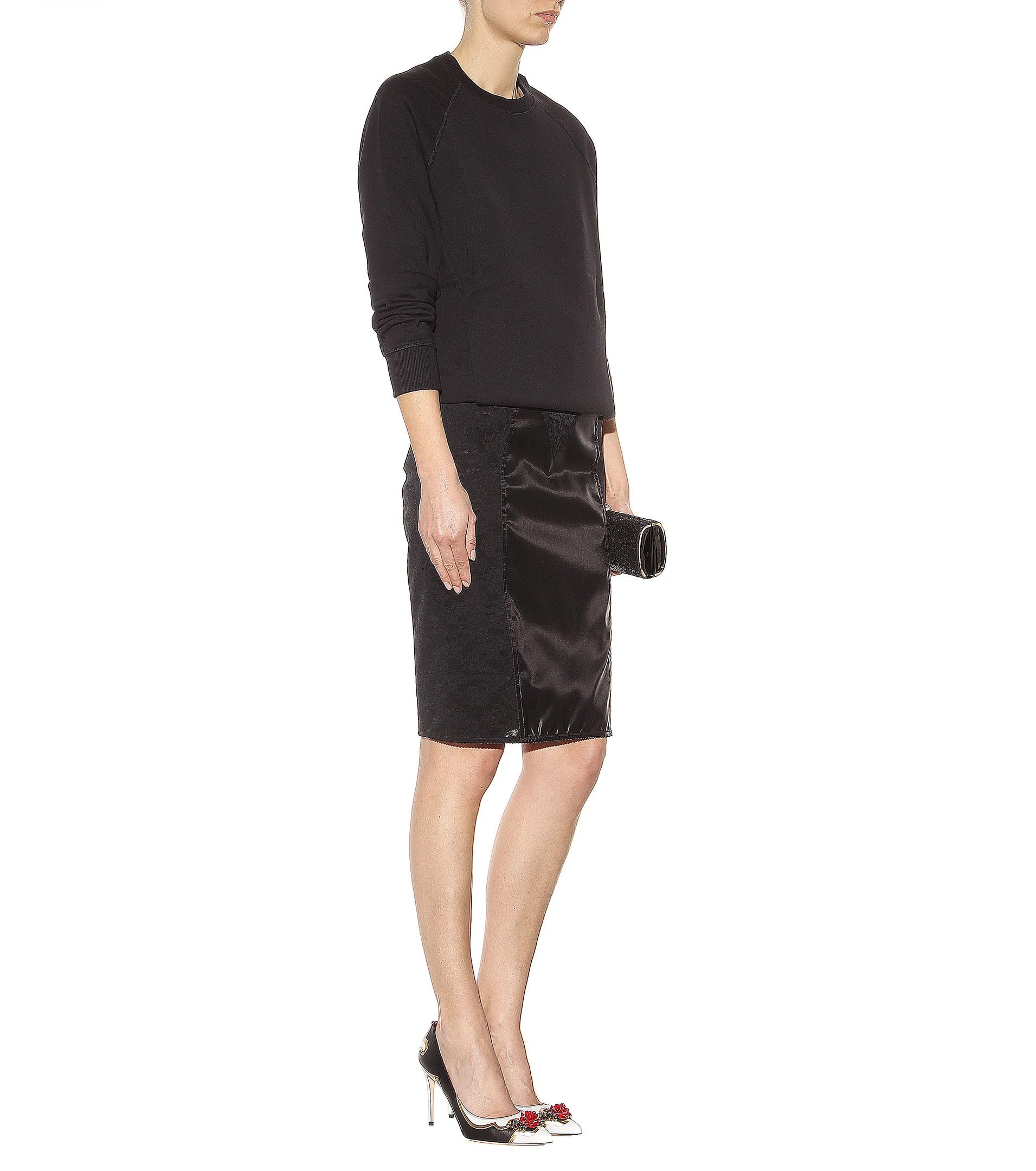Dolce & Gabbana satin skirt Discount Official Site ziqC7mOf6t