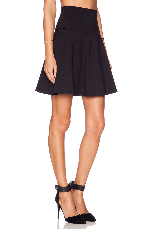 High Waisted Fit And Flare Skirt - Dress Ala