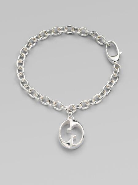 Gucci Sterling Silver 1973 Gg Charm Bracelet In Silver Lyst