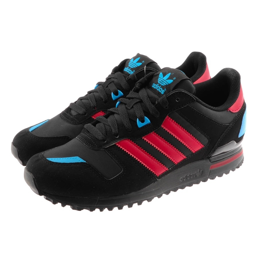 adidas originals zx 700 trainers in black for men lyst. Black Bedroom Furniture Sets. Home Design Ideas