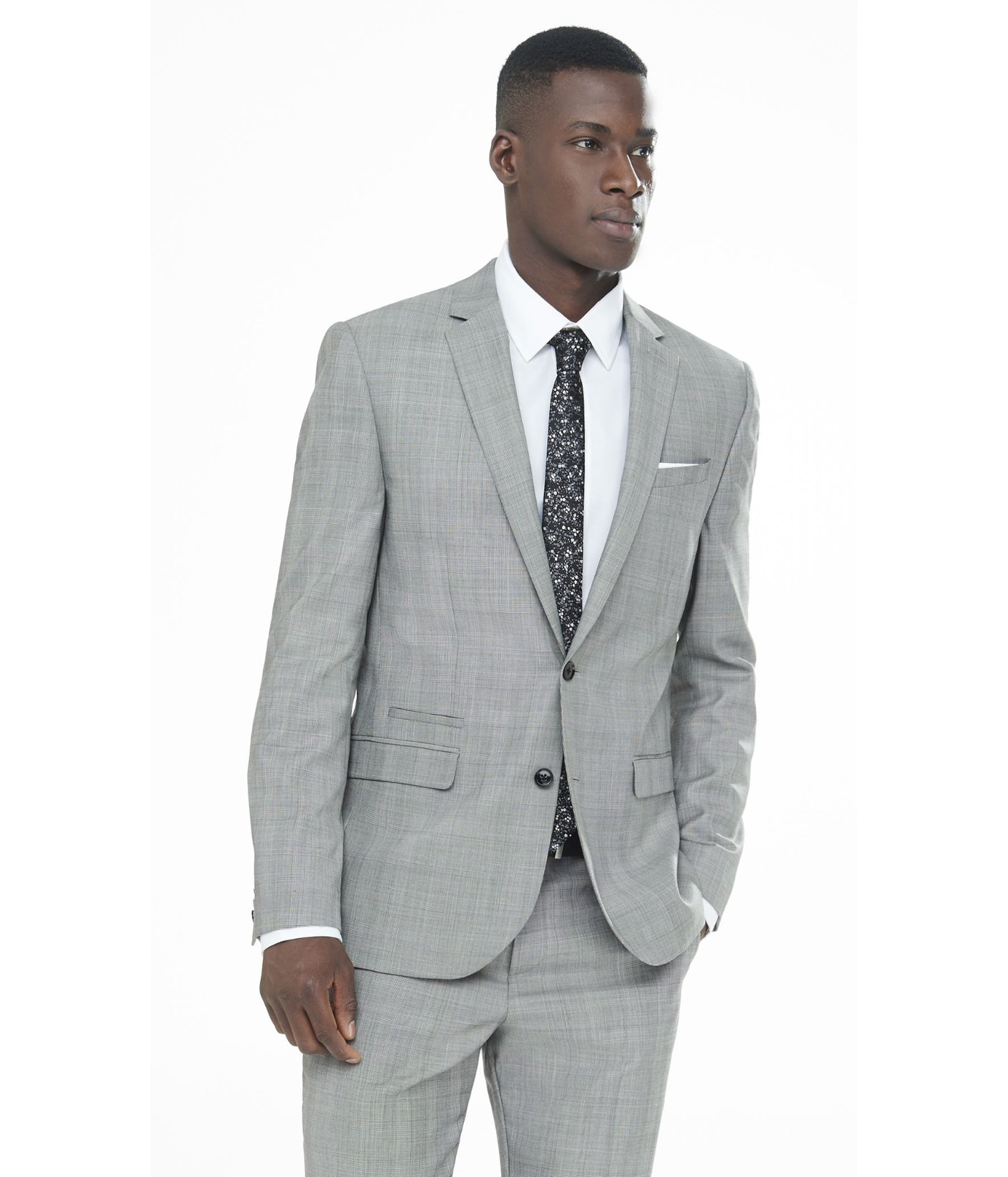 Lyst - Express Light Gray Glen Plaid Photographer Suit Jacket in ...