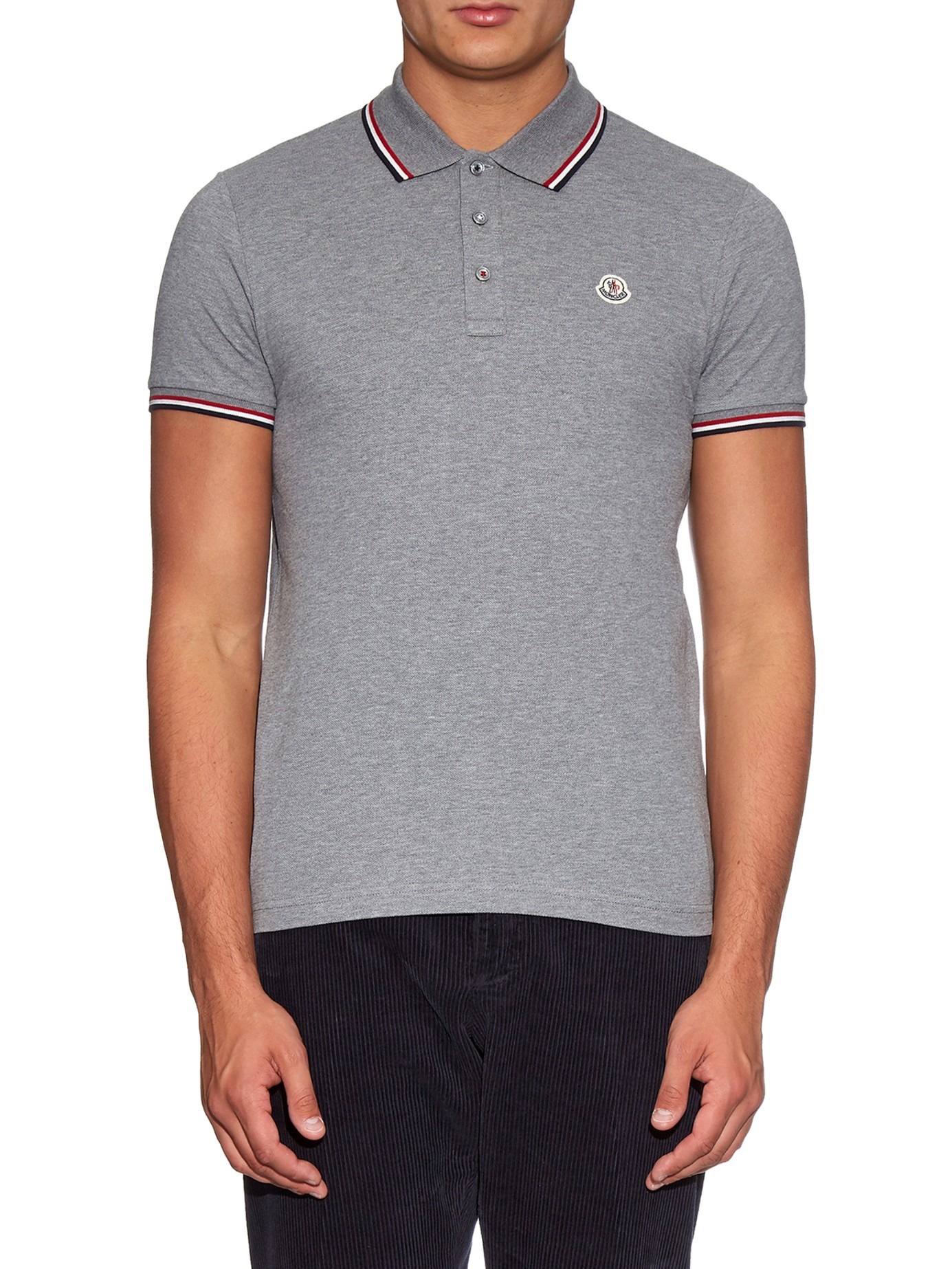 Light Grey Moncler Polo
