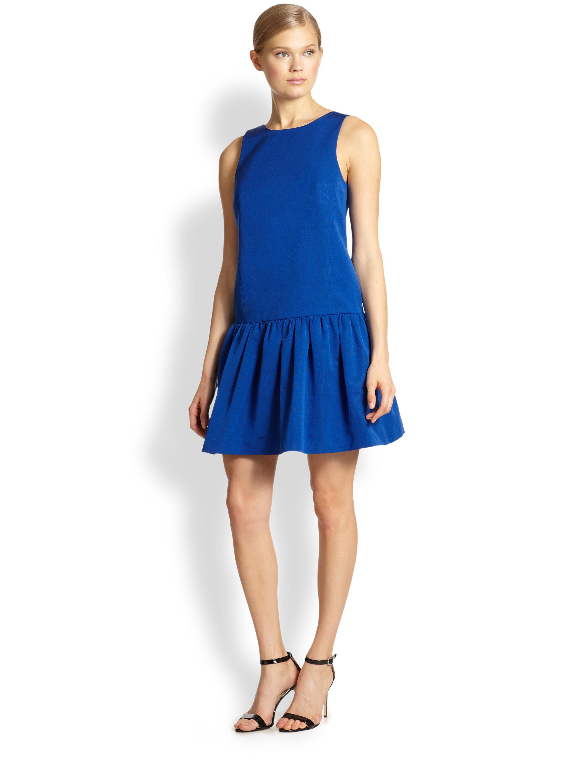 Tibi Blue Dress - Cocktail Dresses 2016