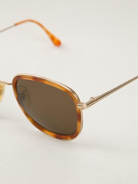Giorgio Armani Vintage Oval Frame Sunglasses in Brown Lyst