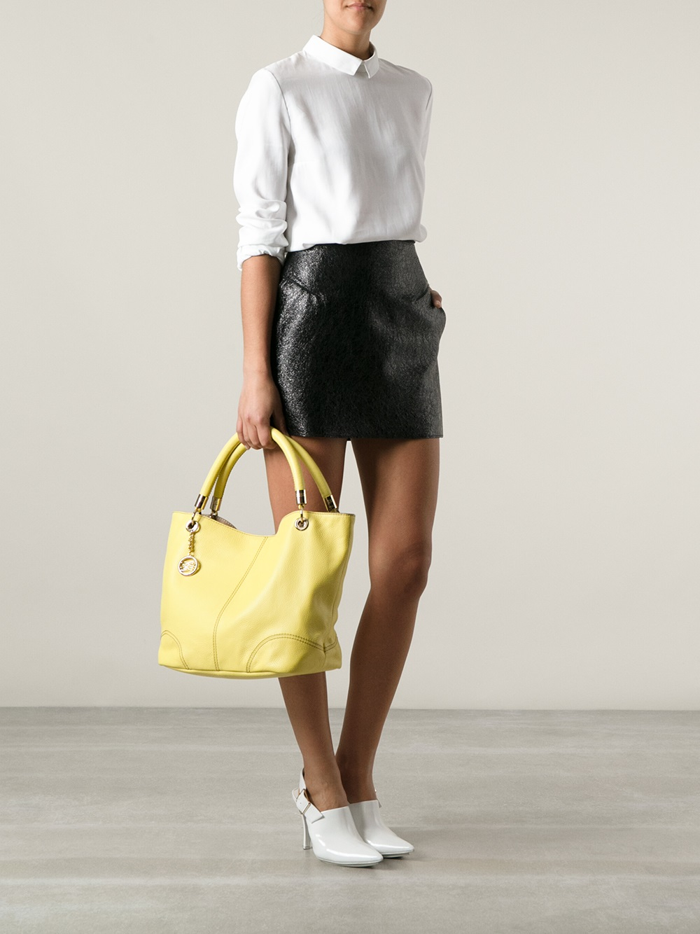 Lyst Lancel French Flair Tote In Yellow