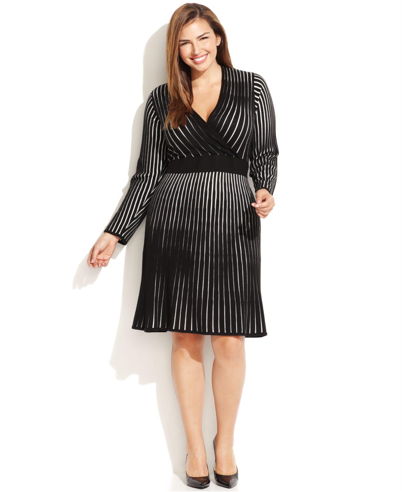 Long sleeve plus size sweater dresses