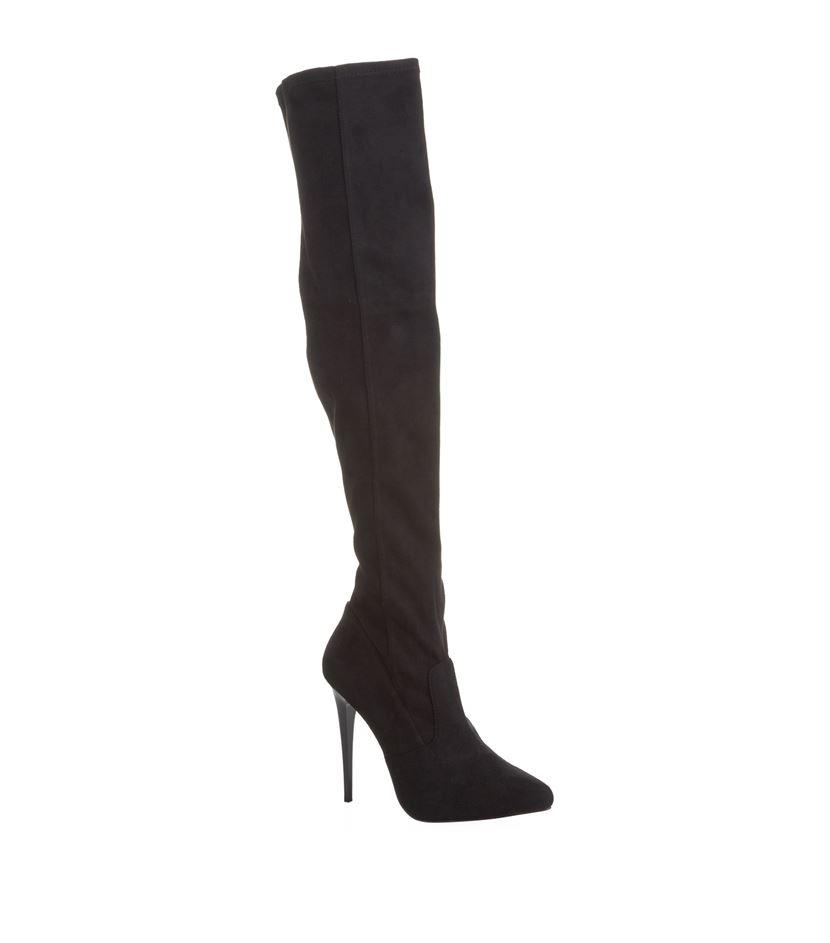 carvela kurt geiger wow thigh high boot in black lyst