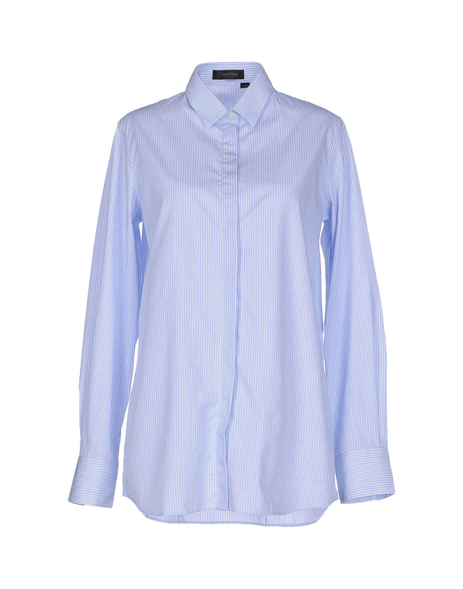 Calvin klein shirt in blue lyst for Calvin klein jardin collection