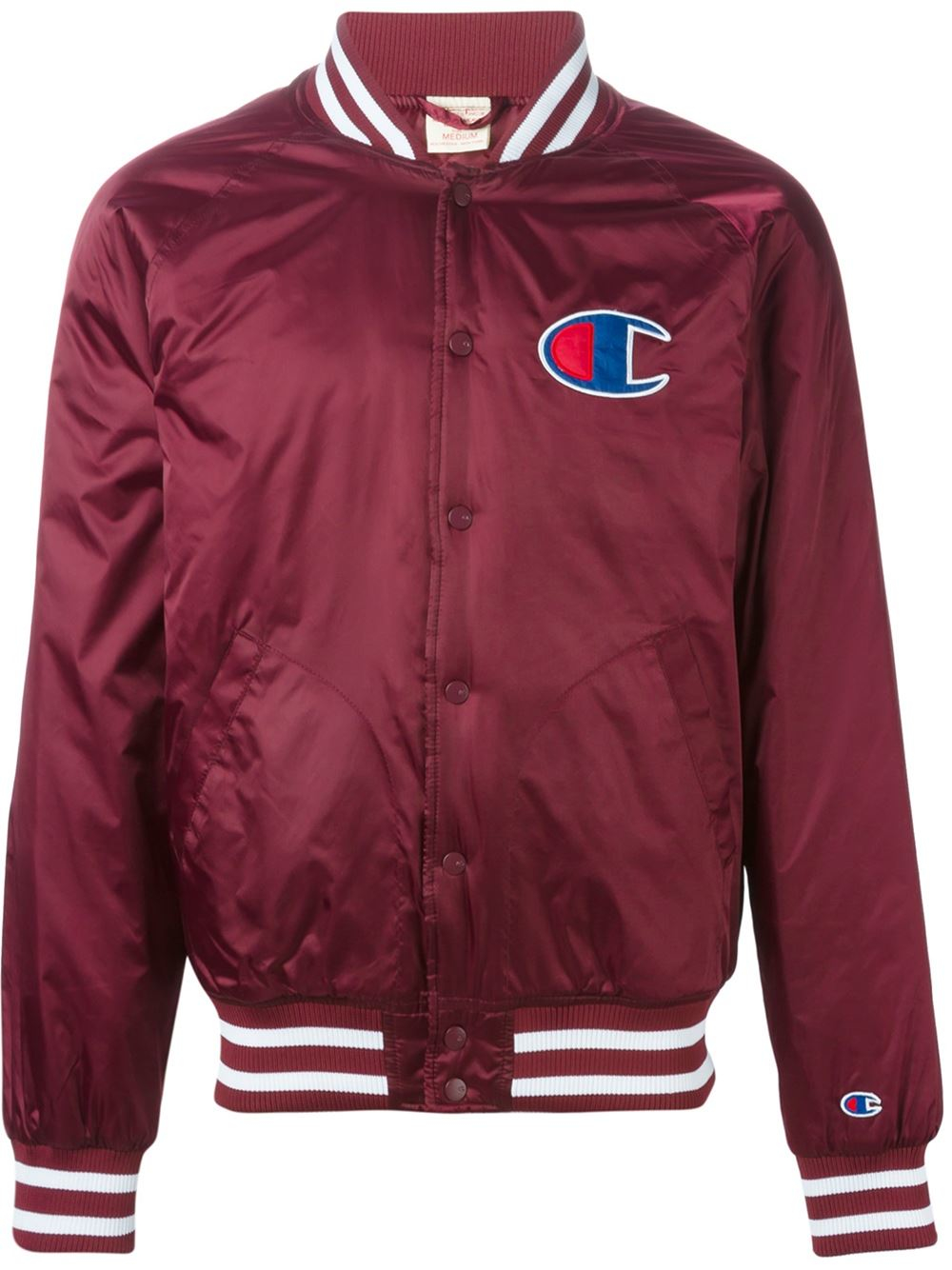 Champion Logo Bomber Jacket in Red for Men | Lyst