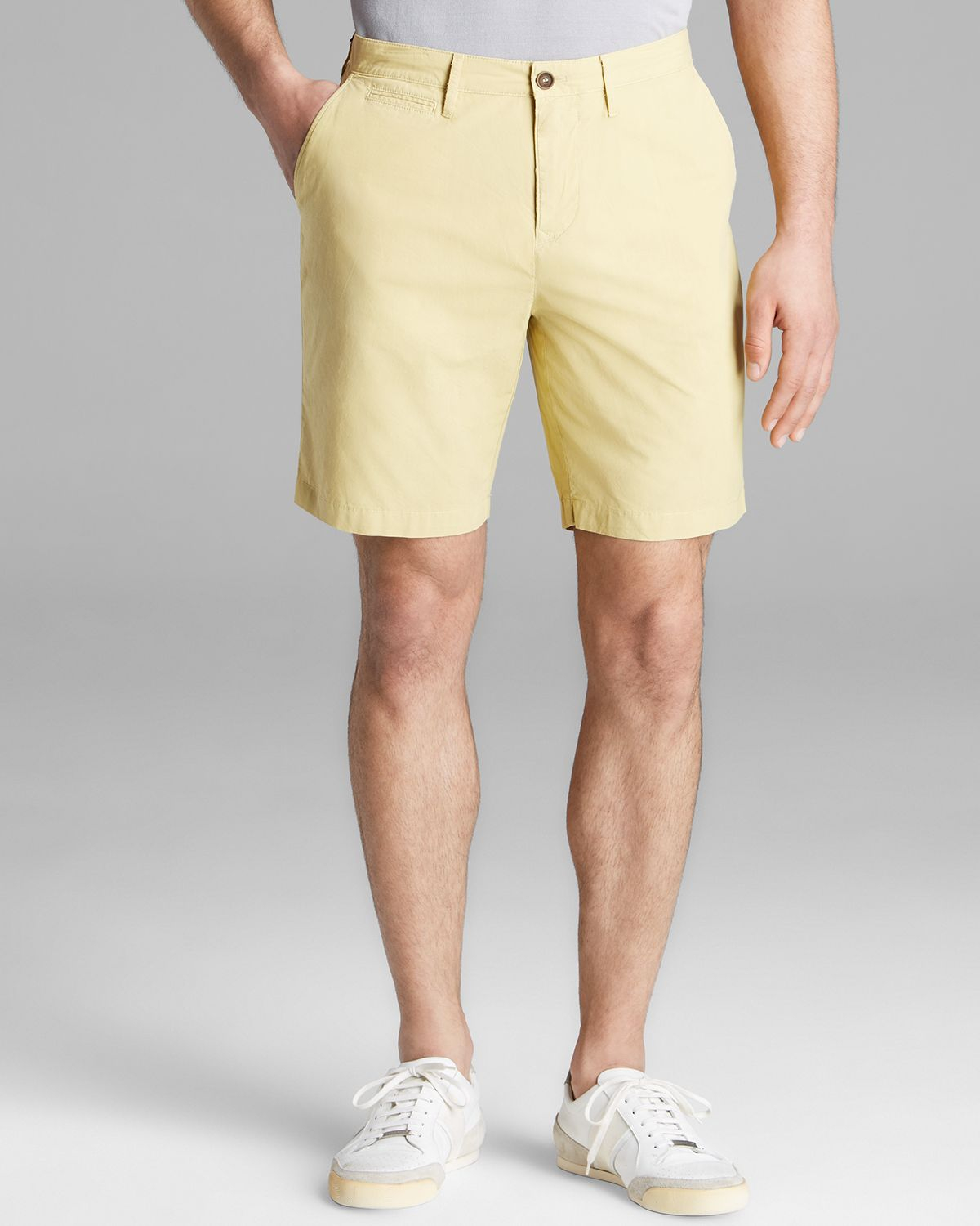 Burberry Brit Chino Shorts in Yellow for Men | Lyst
