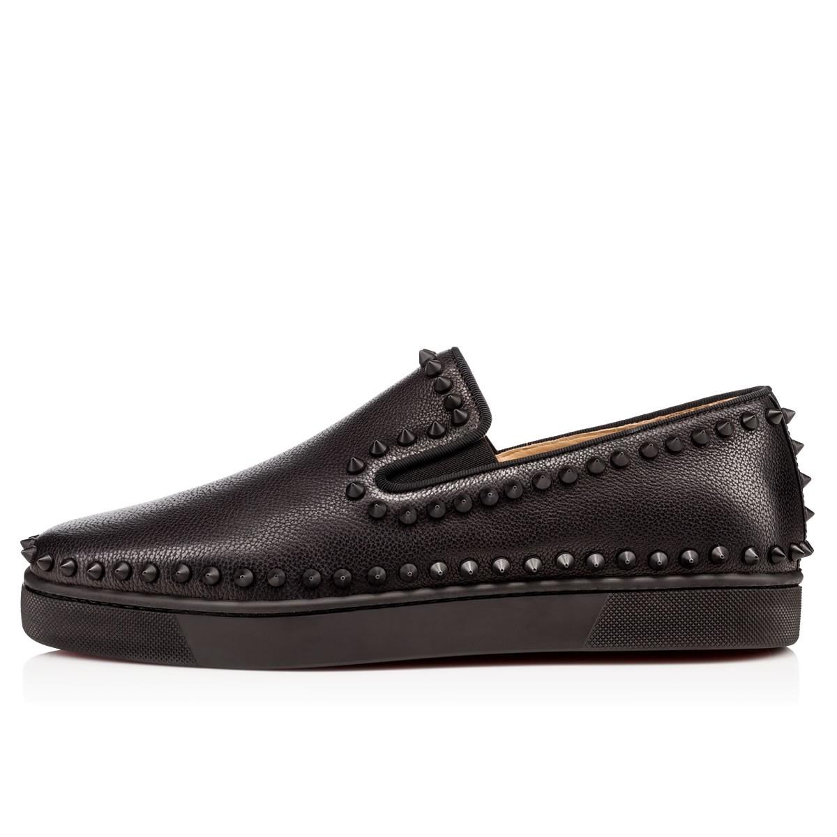 shoe replicas - Artesur ? christian louboutin Pik Boat Flat Sneakers black matted ...
