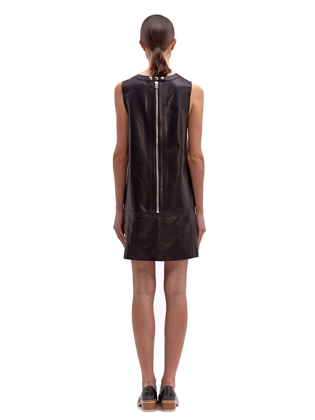 River Island Black Leather Shift Dress