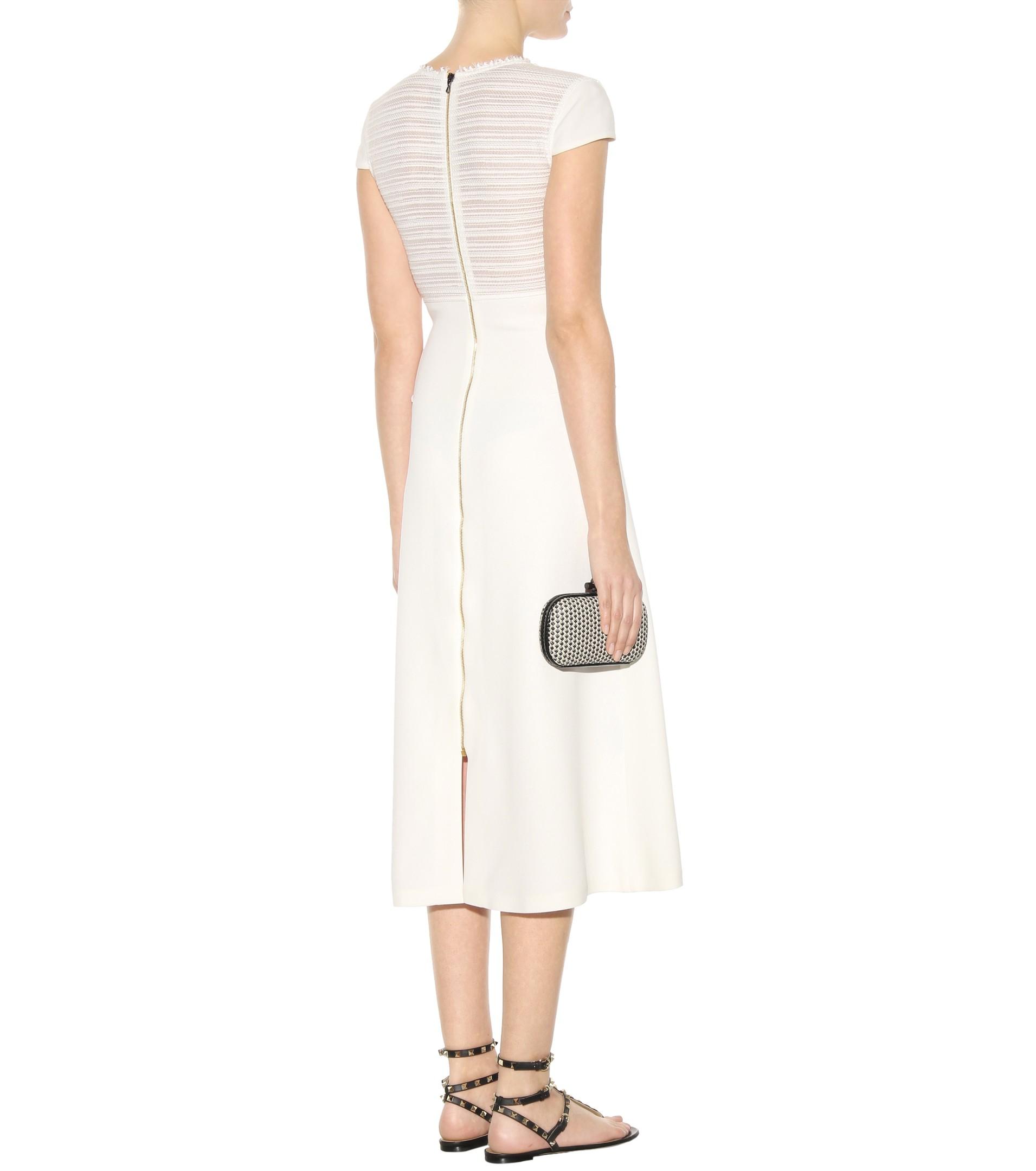 5156c92cd97 Roland Mouret Langham Crêpe Dress in White - Lyst