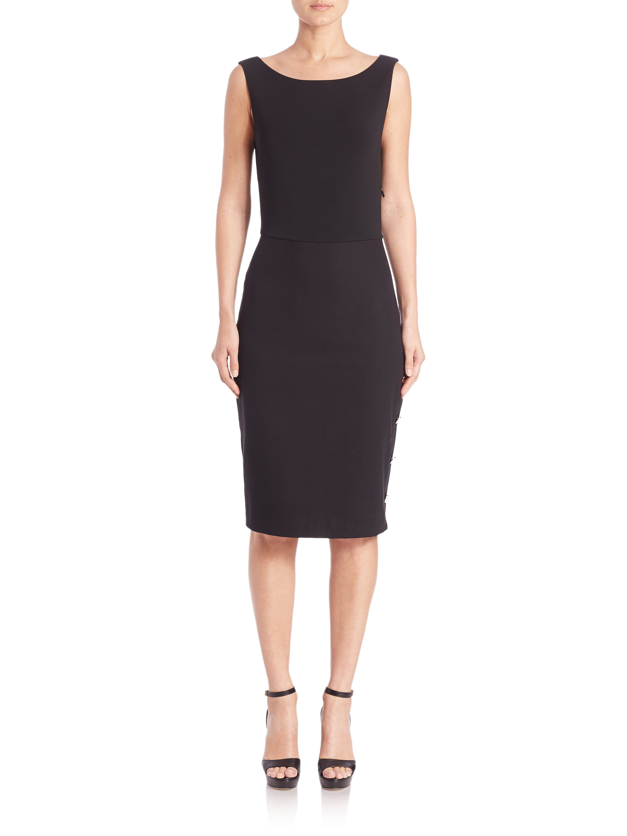 Lyst Max Mara Bassano Sleeveless Dress In Black