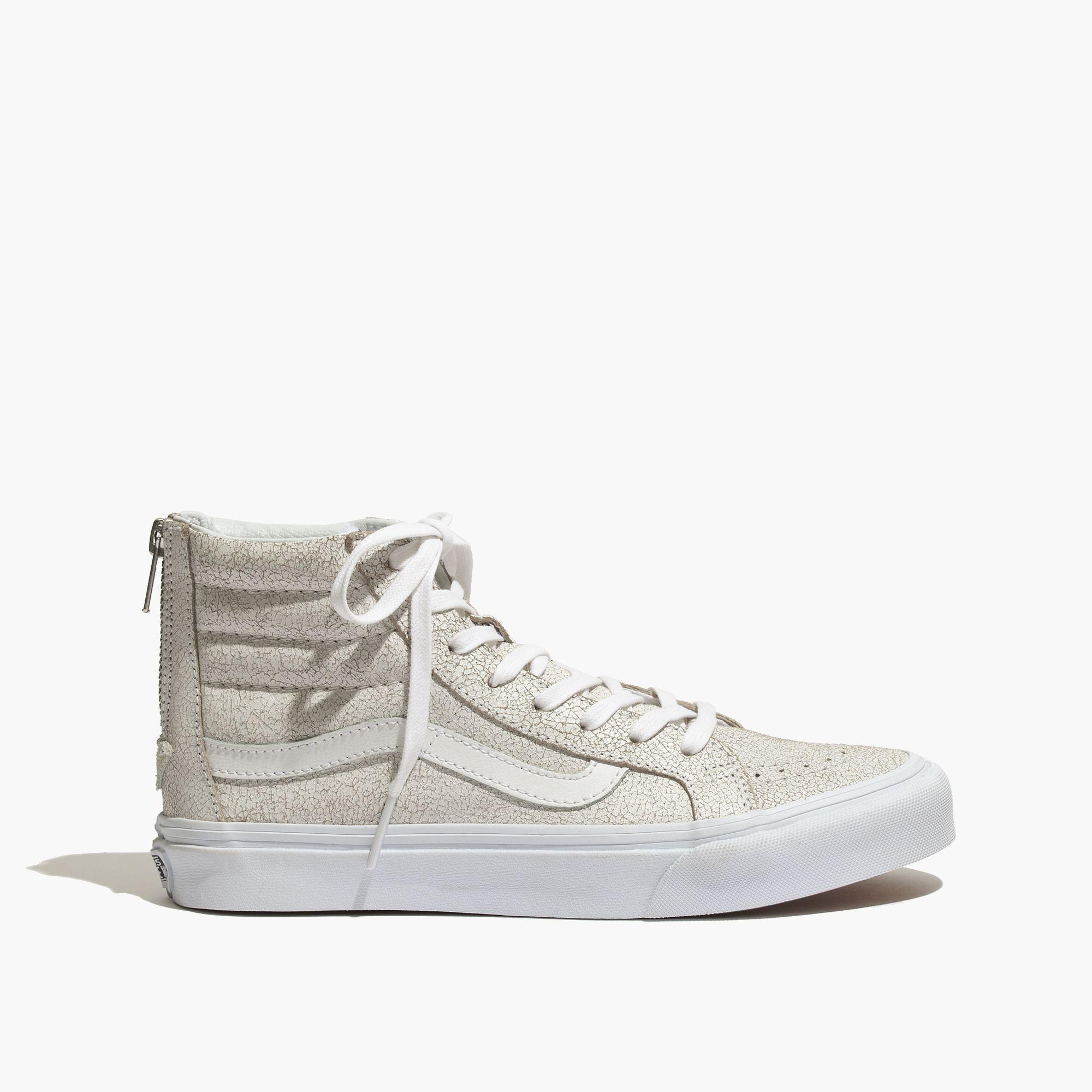 Lyst - Madewell Vans Reg  Sk8-Hi Slim Zip High-Top Sneakers In ... 8acb23740