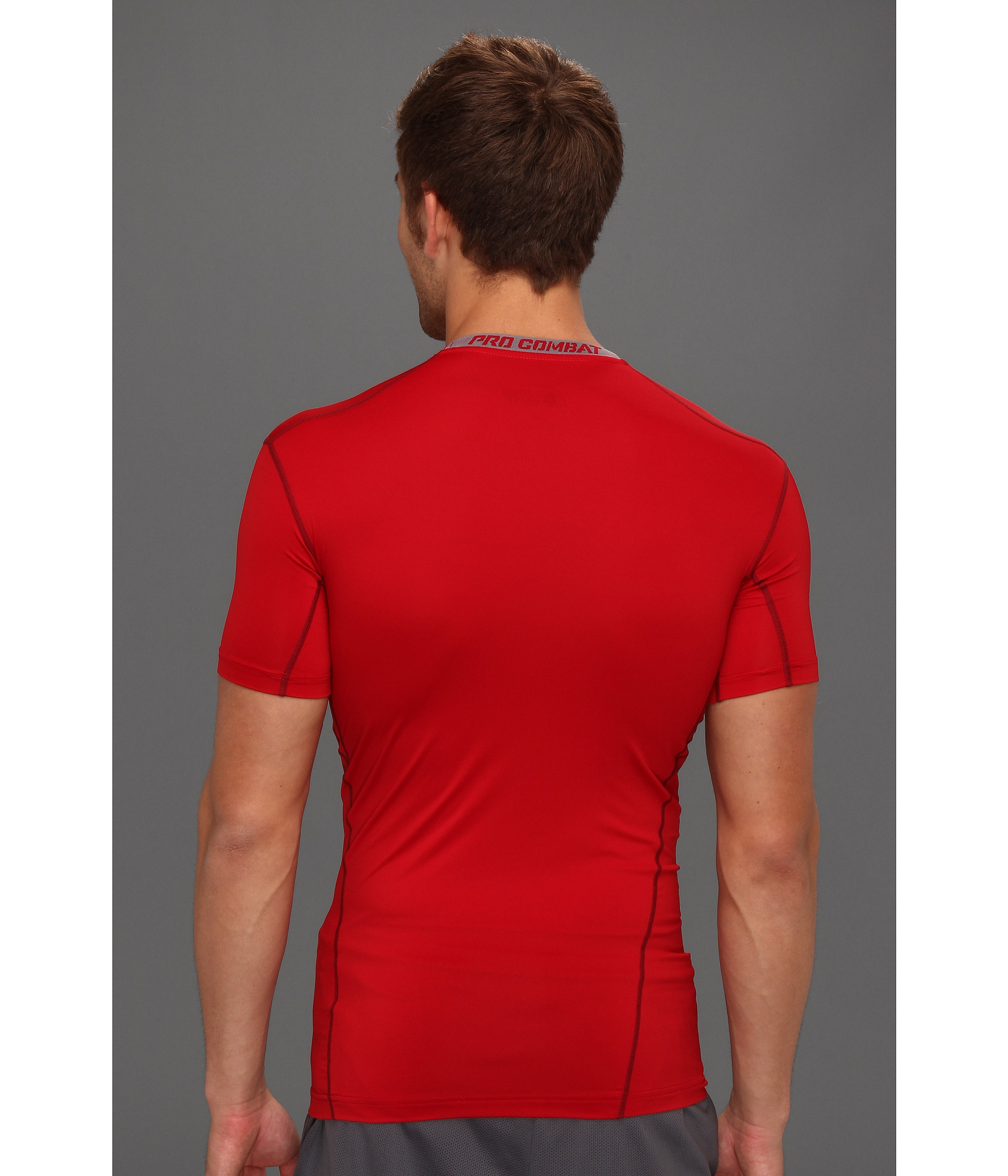 330805296d48 Lyst - Nike Pro Core Compression S S Top 2.0 in Red for Men