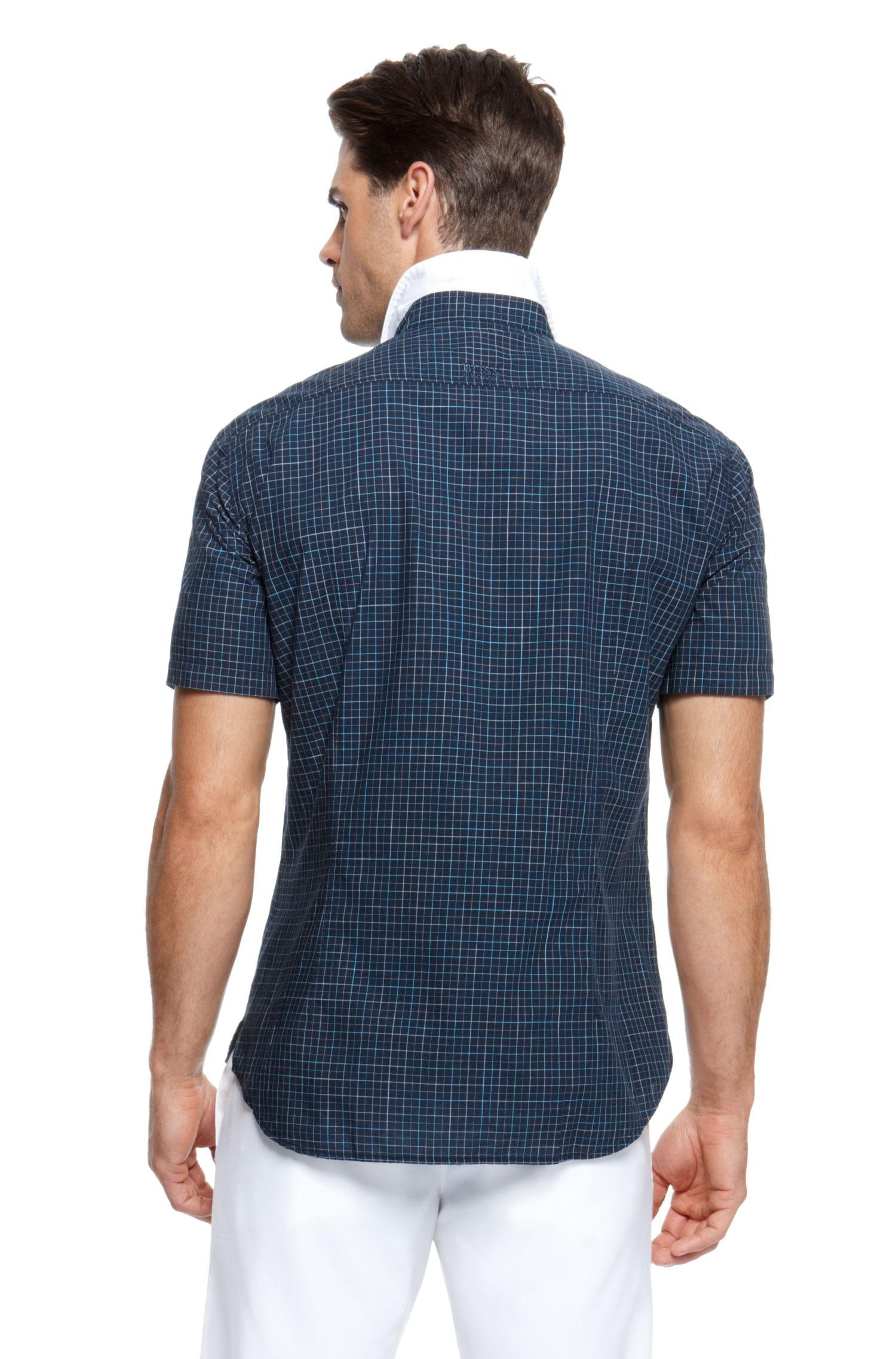 Boss Green Berko Regular Fit Cotton Check Short Sleeve