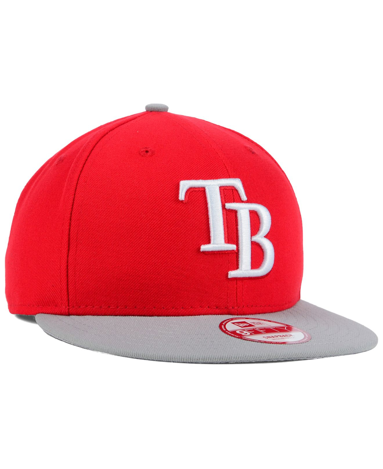 huge discount 12791 59d04 Lyst - Ktz Tampa Bay Rays 2-tone Basic 9fifty Snapback Cap in Red ...