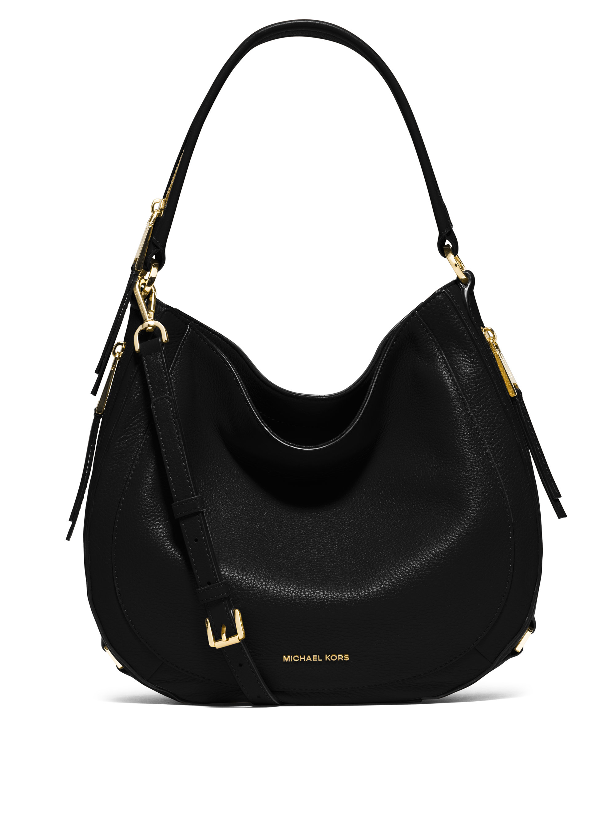 michael michael kors julia medium leather hobo bag in. Black Bedroom Furniture Sets. Home Design Ideas